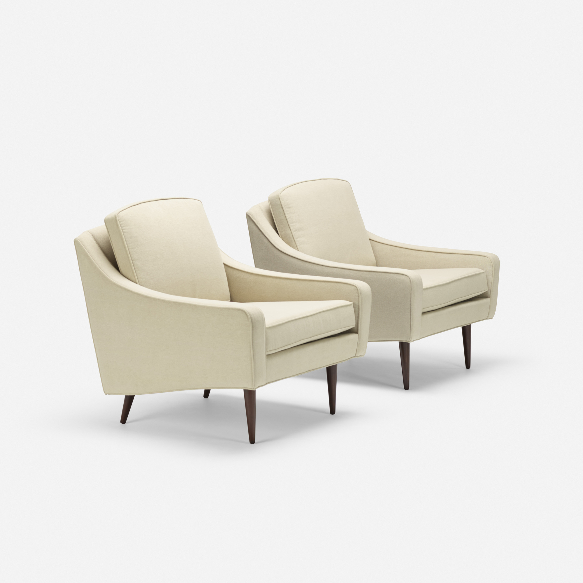 168: Milo Baughman / lounge chairs, pair (1 of 4)