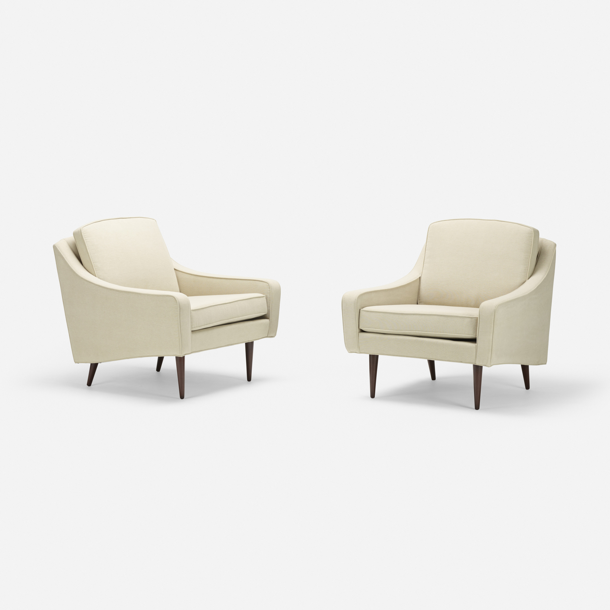 168: Milo Baughman / lounge chairs, pair (2 of 4)