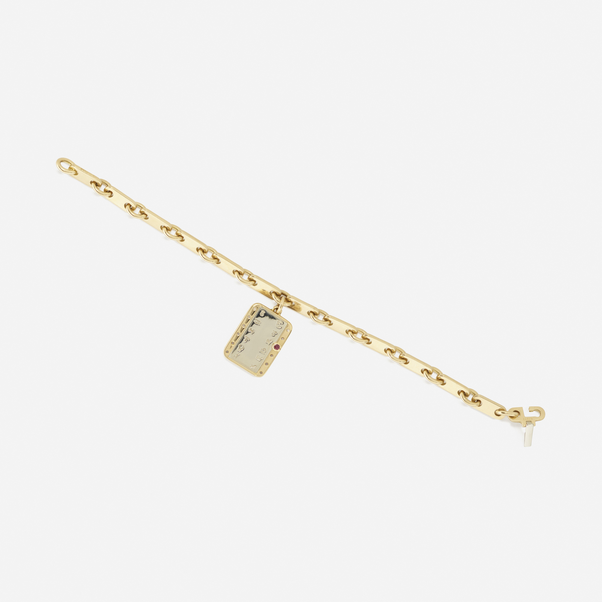 169: Cartier / A gold and ruby Zodiac charm bracelet (2 of 2)