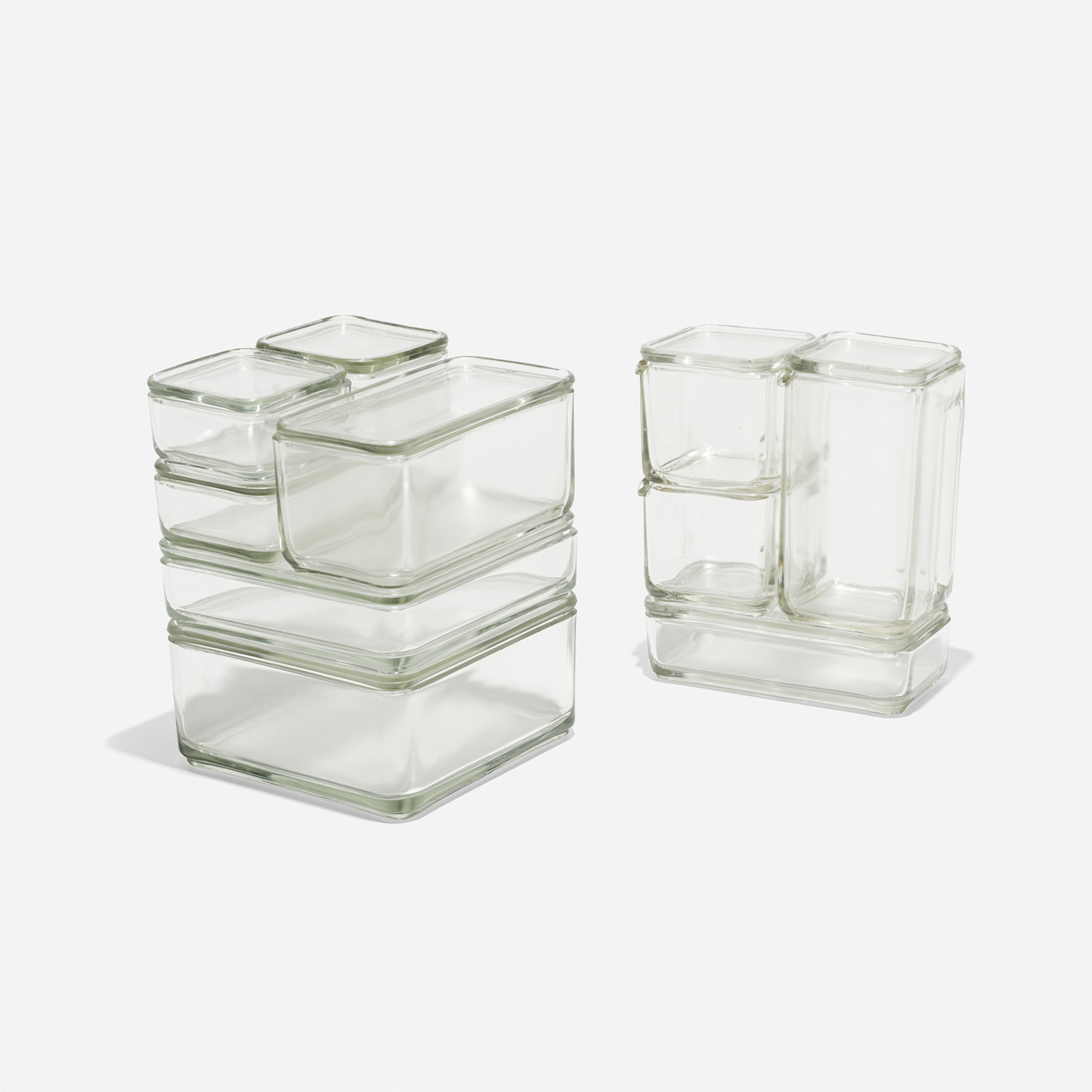 170 WILHELM WAGENFELD Kubus stacking containers set of ten