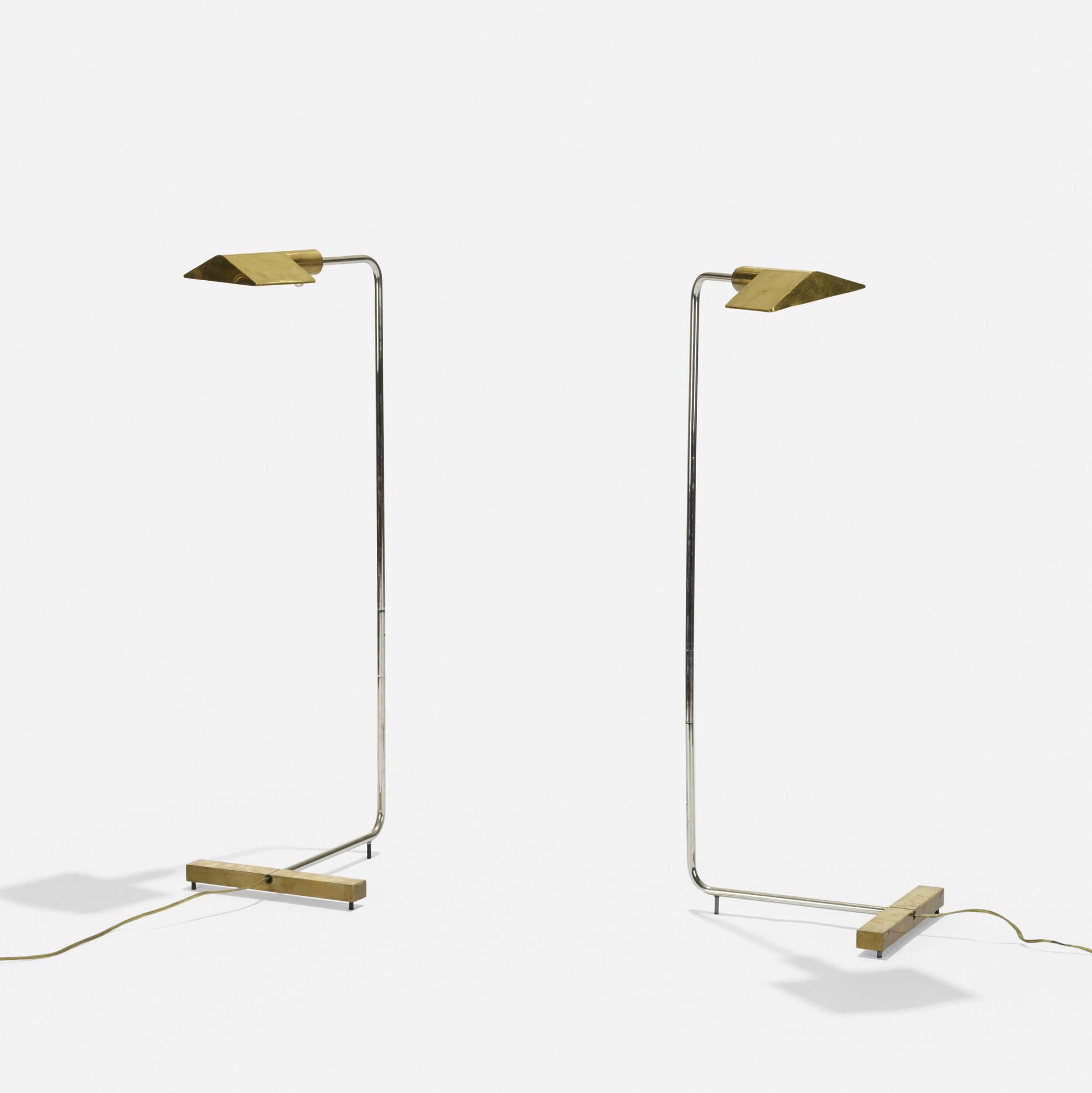 171: Cedric Hartman / floor lamps model 1U WV, pair (1 of 2)
