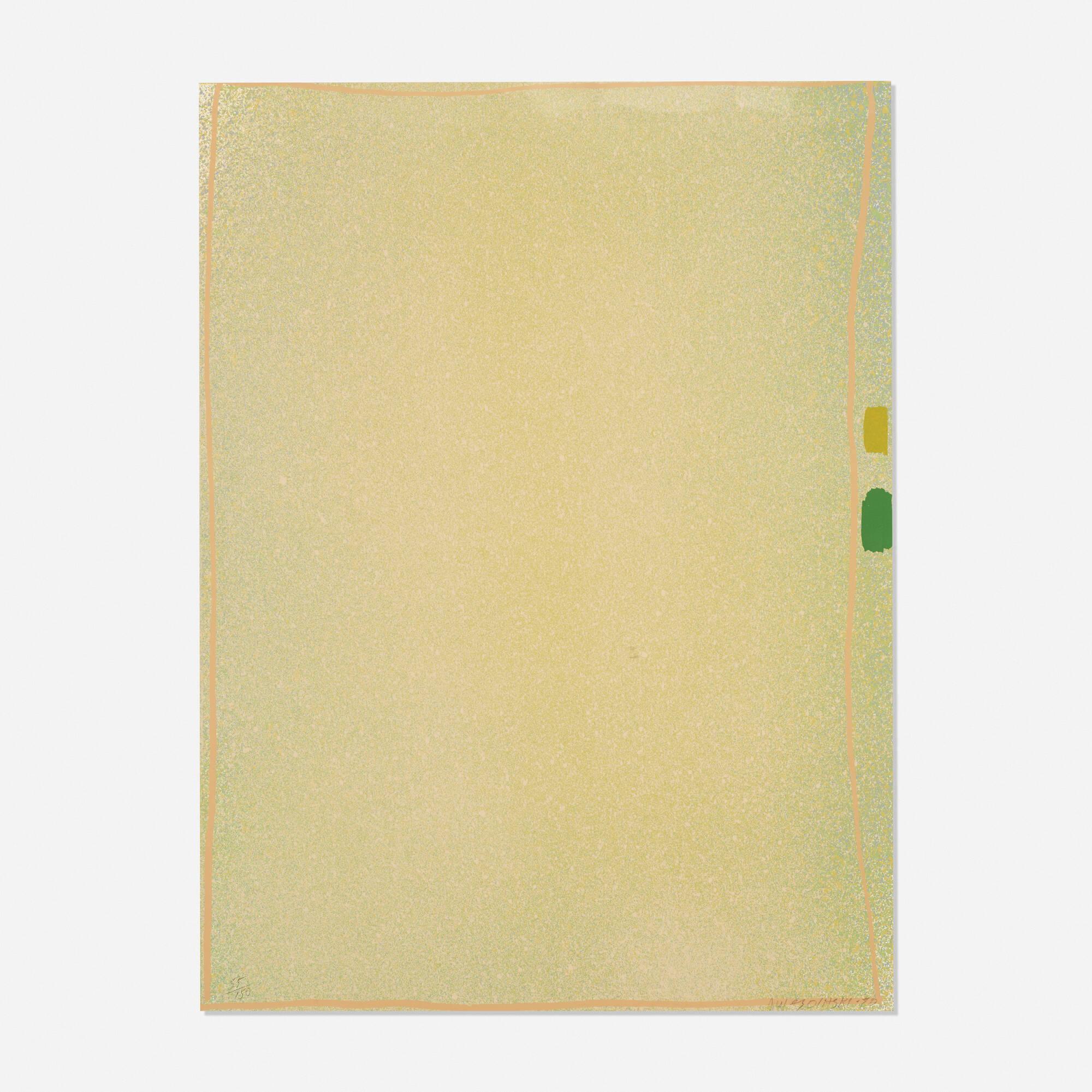 171: Jules Olitski / Graphite Suite I (Yellow/Green with Flesh) (1 of 1)