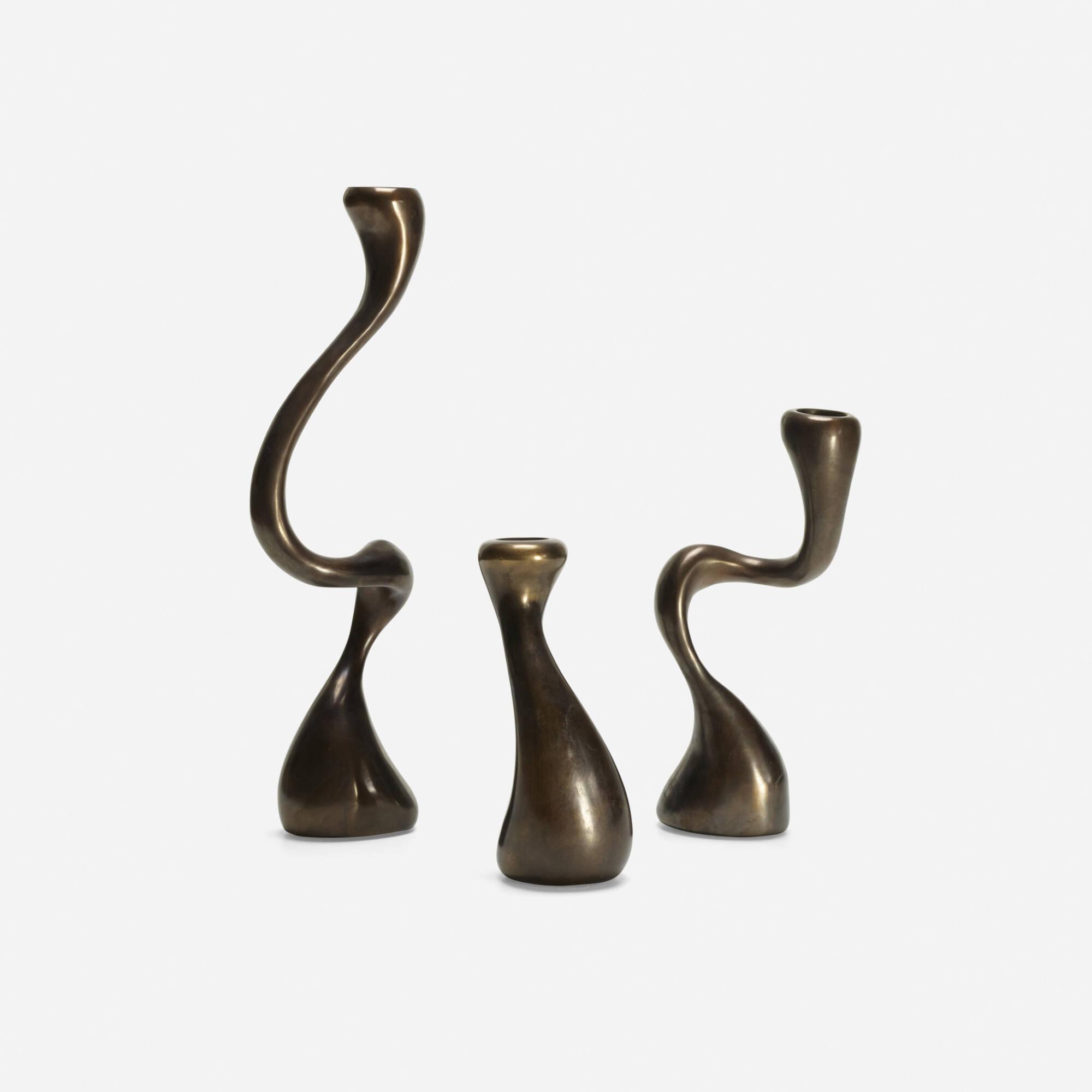 171: Jordan Mozer / Anna Mae candlesticks, set of three (1 of 1)