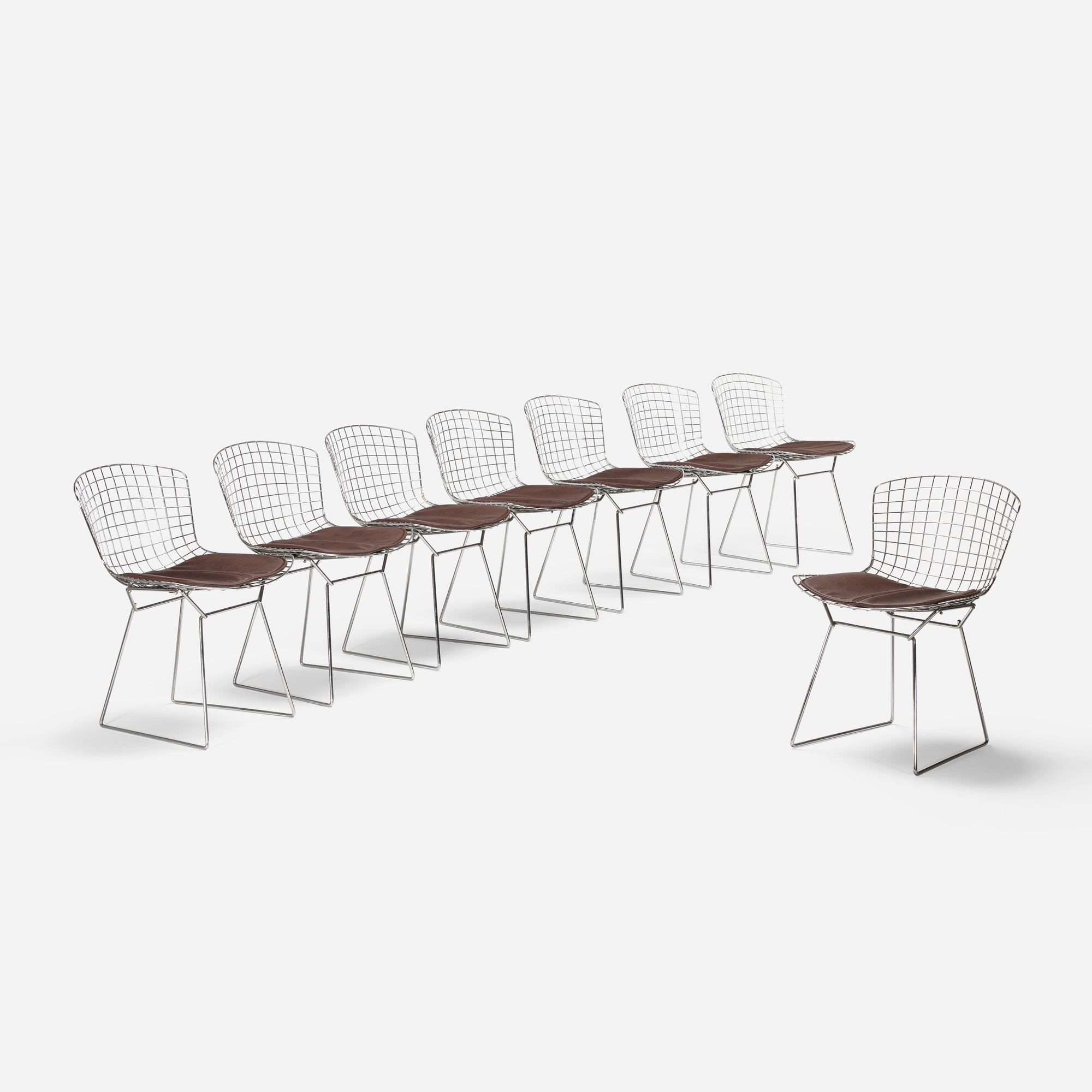 171: Harry Bertoia / dining chairs, set of eight (1 of 3)