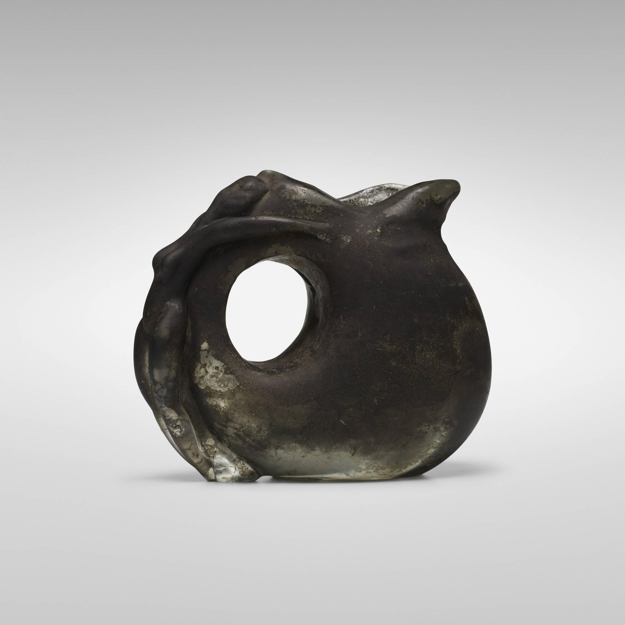 172: Ermanno Nason / vase with figural handle (1 of 3)