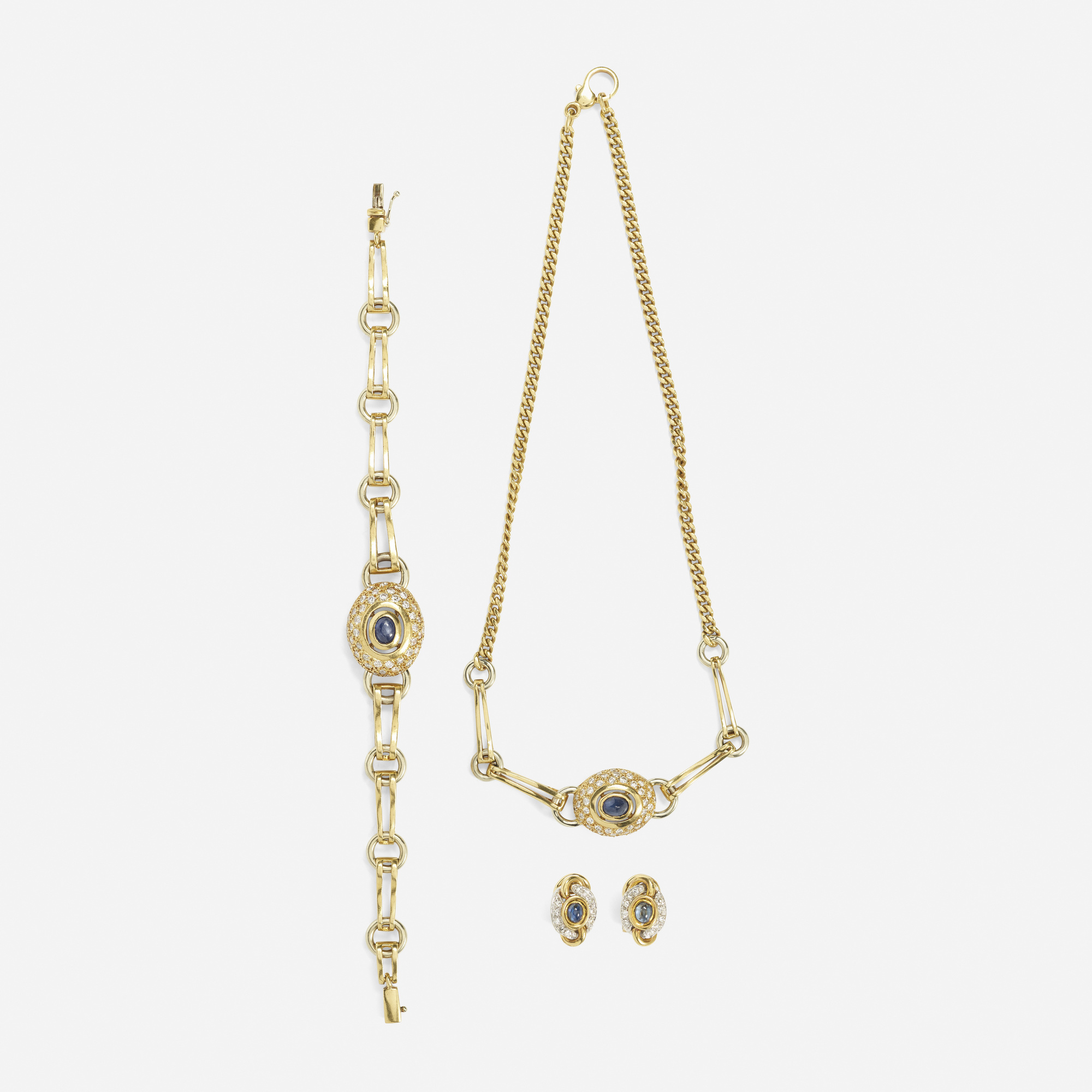172: Gucci / A suite of gold, diamond and sapphire jewelry (1 of 1)