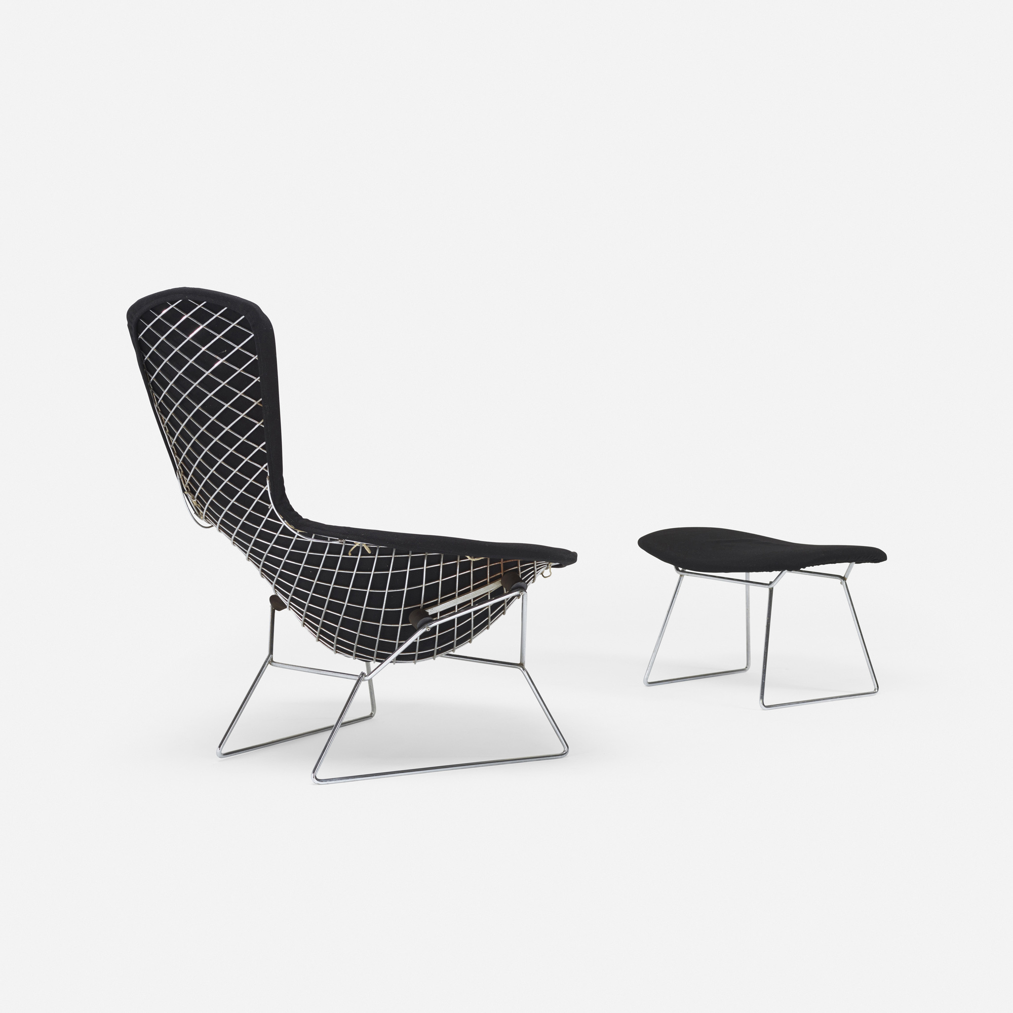 172 Harry Bertoia Bird chair and ottoman Mass Modern Day 1