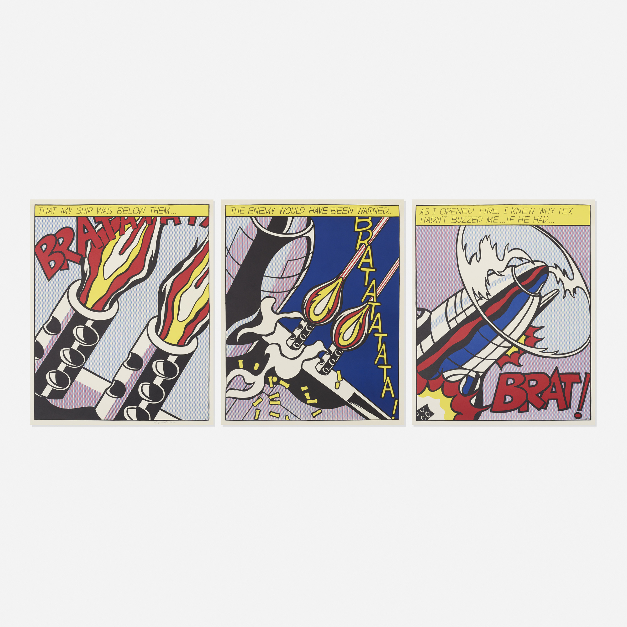 172: Roy Lichtenstein / As I Opened Fire poster (1 of 1)