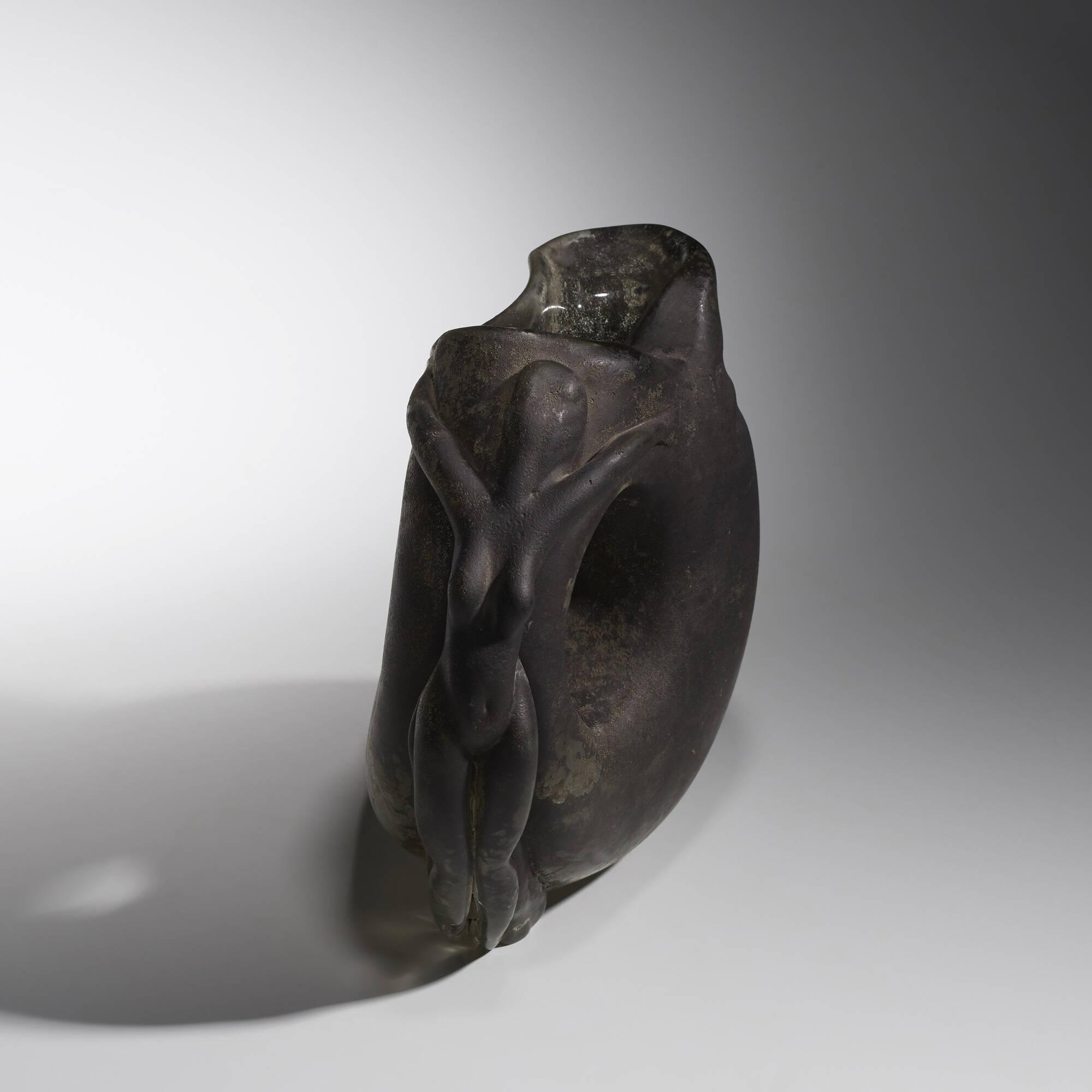 172: Ermanno Nason / vase with figural handle (2 of 3)
