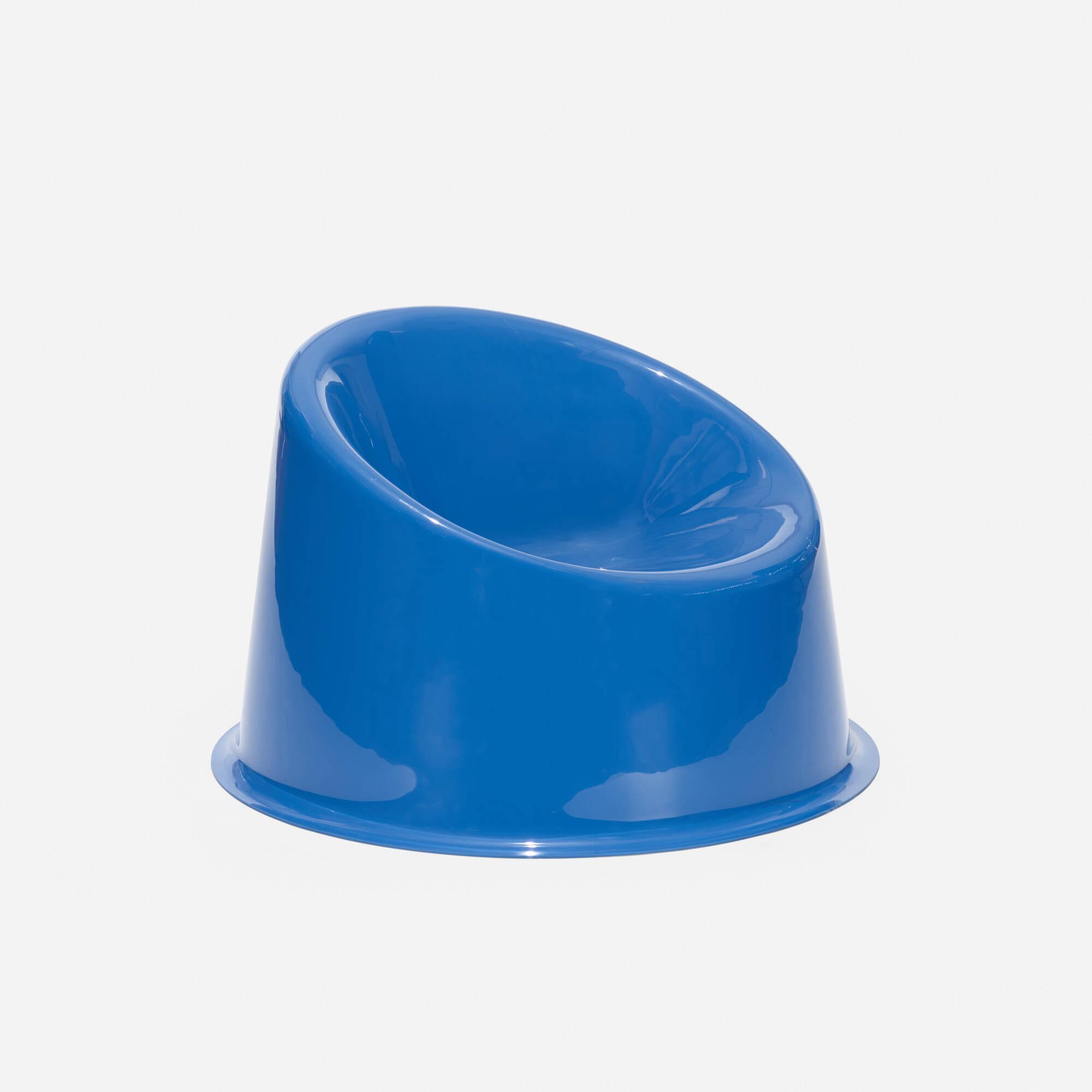 173: Verner Panton / Blue Panto Pop chair (2 of 3)