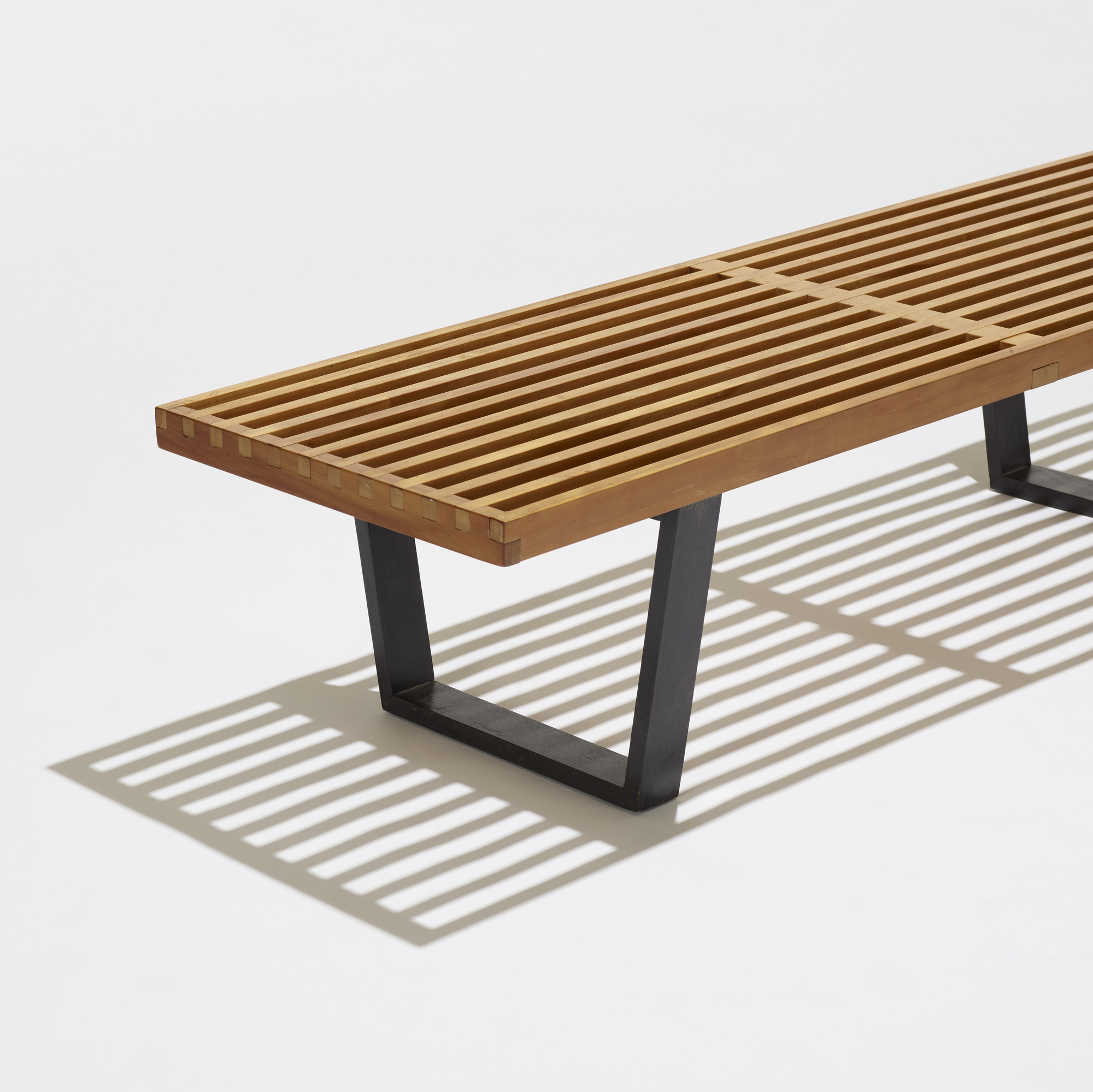 173 GEORGE NELSON & ASSOCIATES slat bench model 4690 American