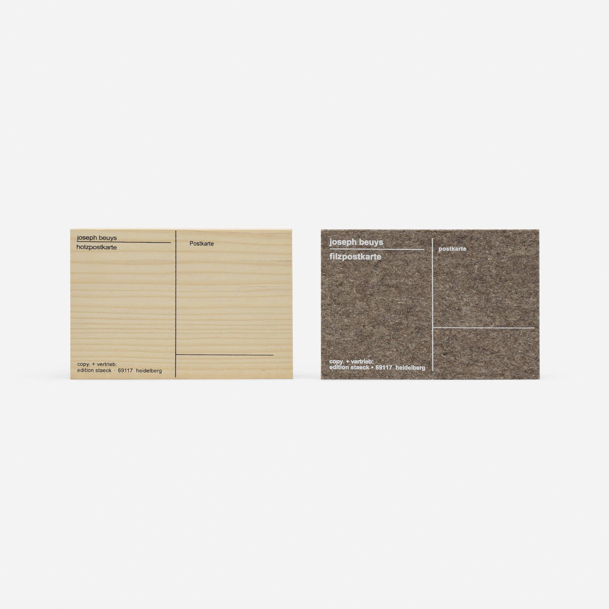 174: Joseph Beuys / Filzpostkarte and Holzpostkarte (1 of 1)