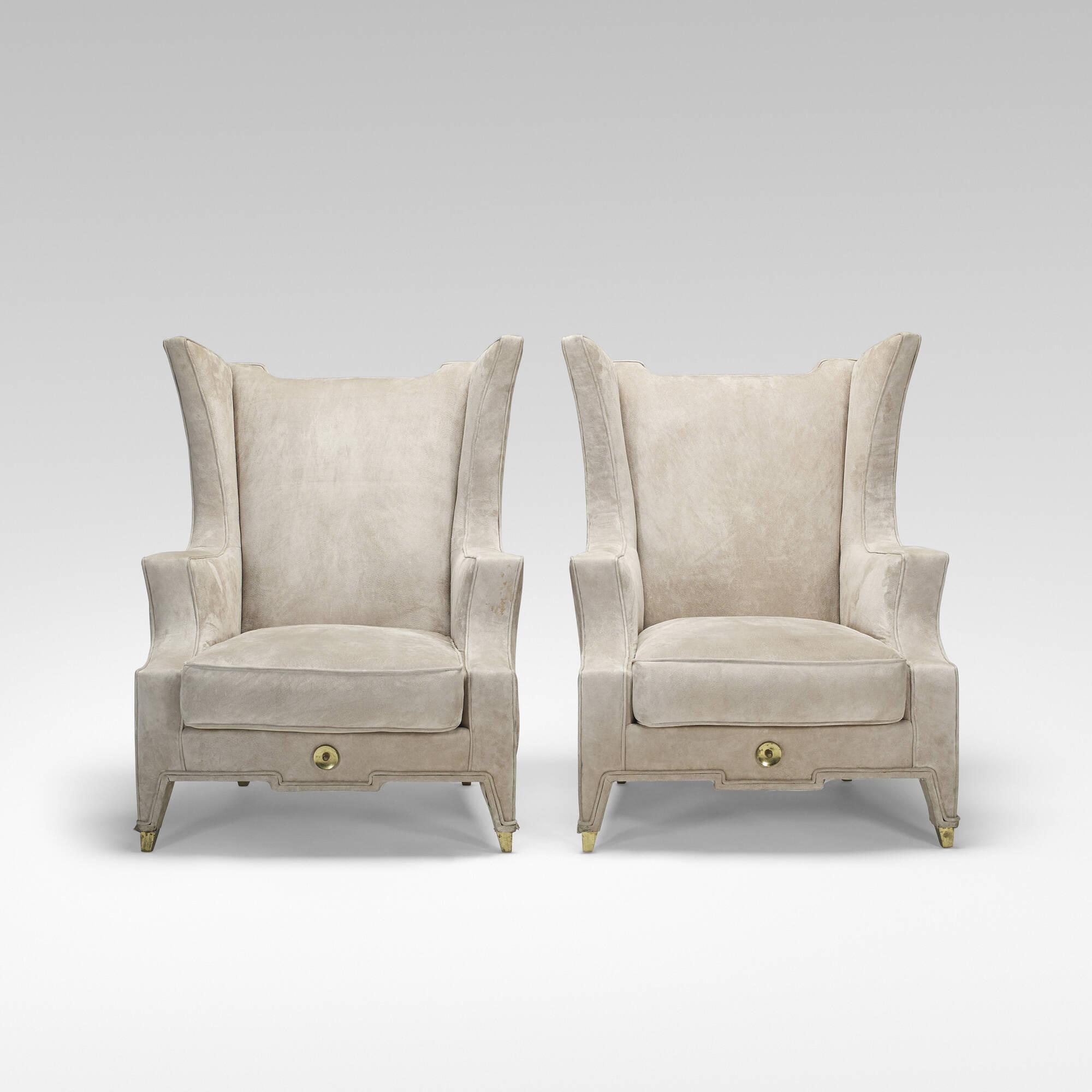 ... 174: Arturo Pani / Custom Lounge Chairs, Pair (2 Of 3)