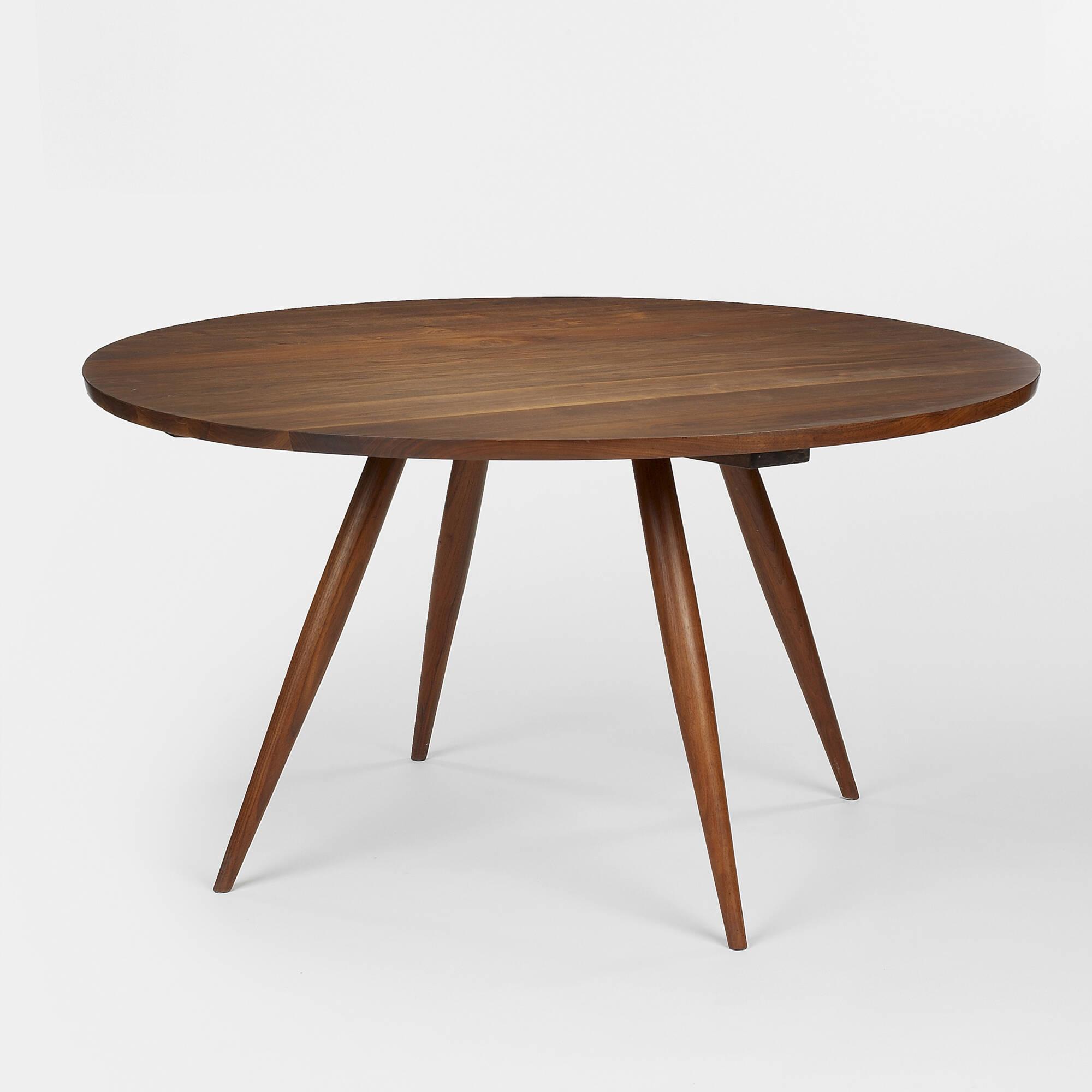 175 george nakashima round turned leg table for Email table design