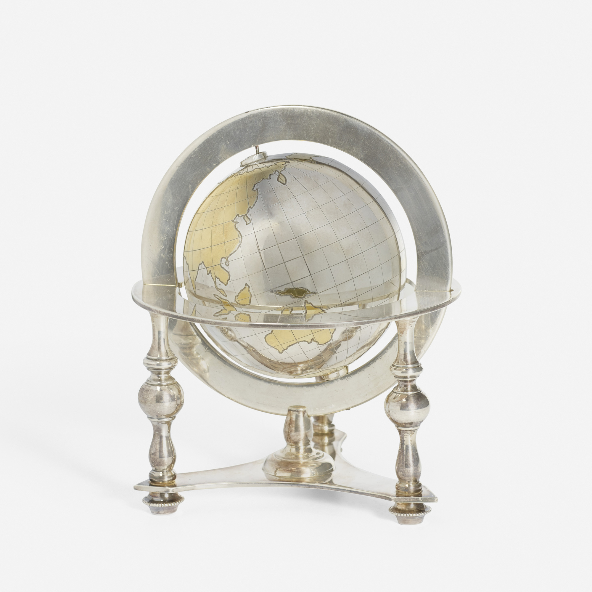 176: Bulgari / A silver table globe (1 of 2)