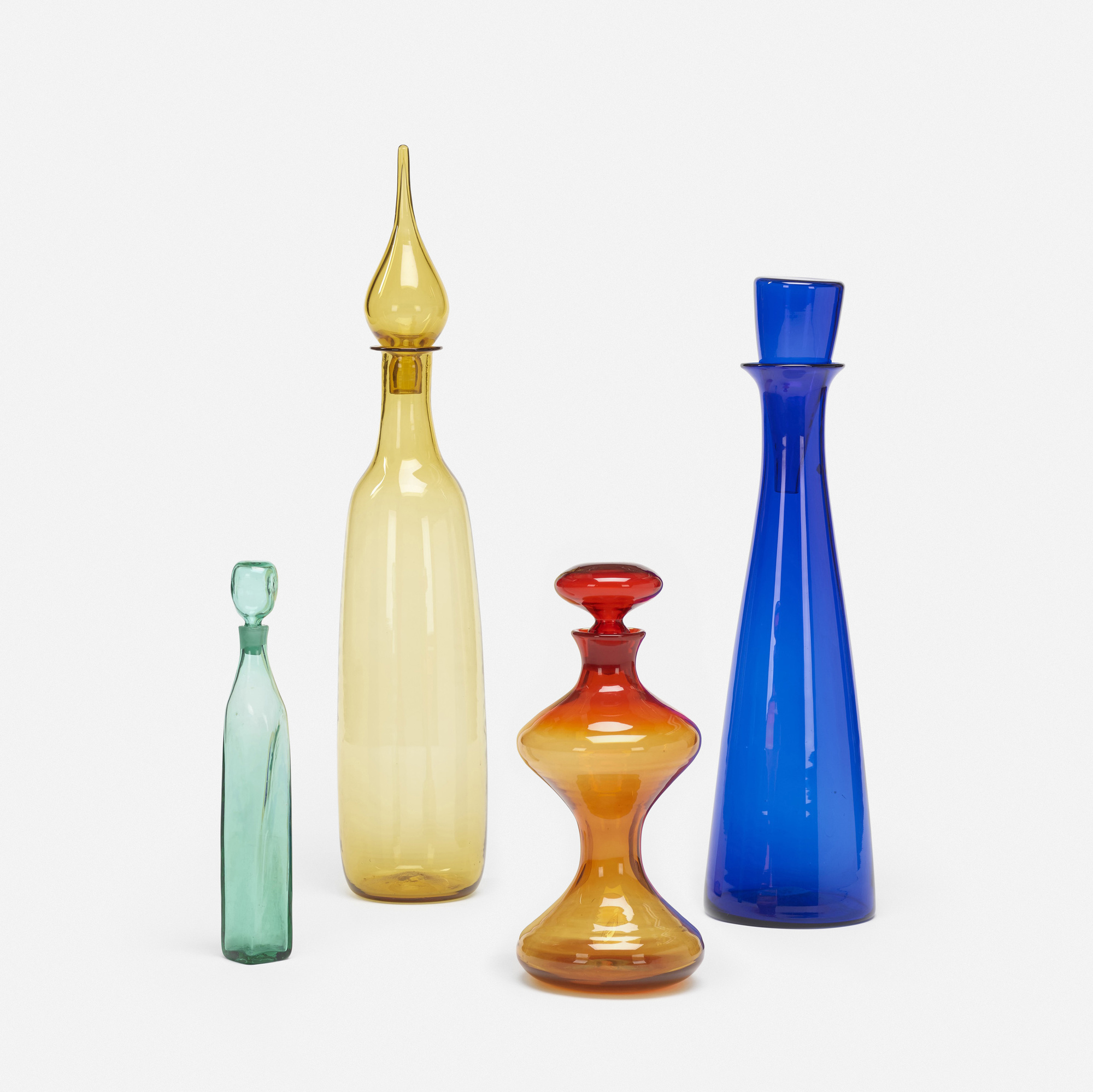 176: Blenko Glass Company / collection of four bottles (1 of 2)