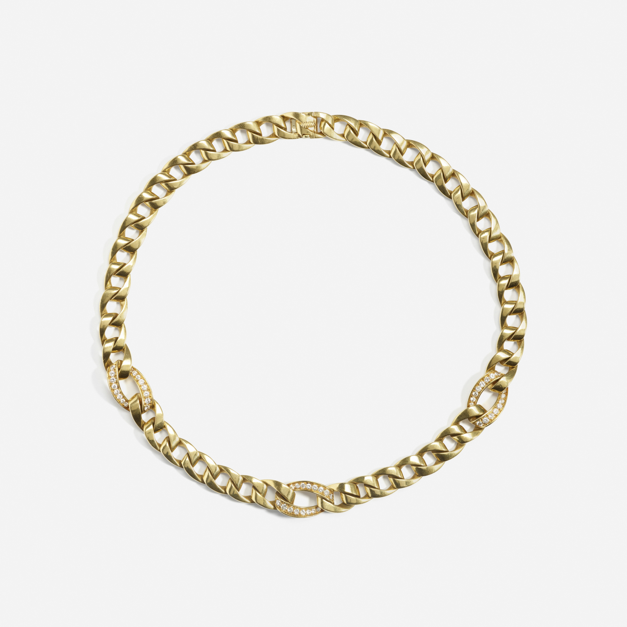 177: Cartier / A gold and diamond necklace (1 of 2)