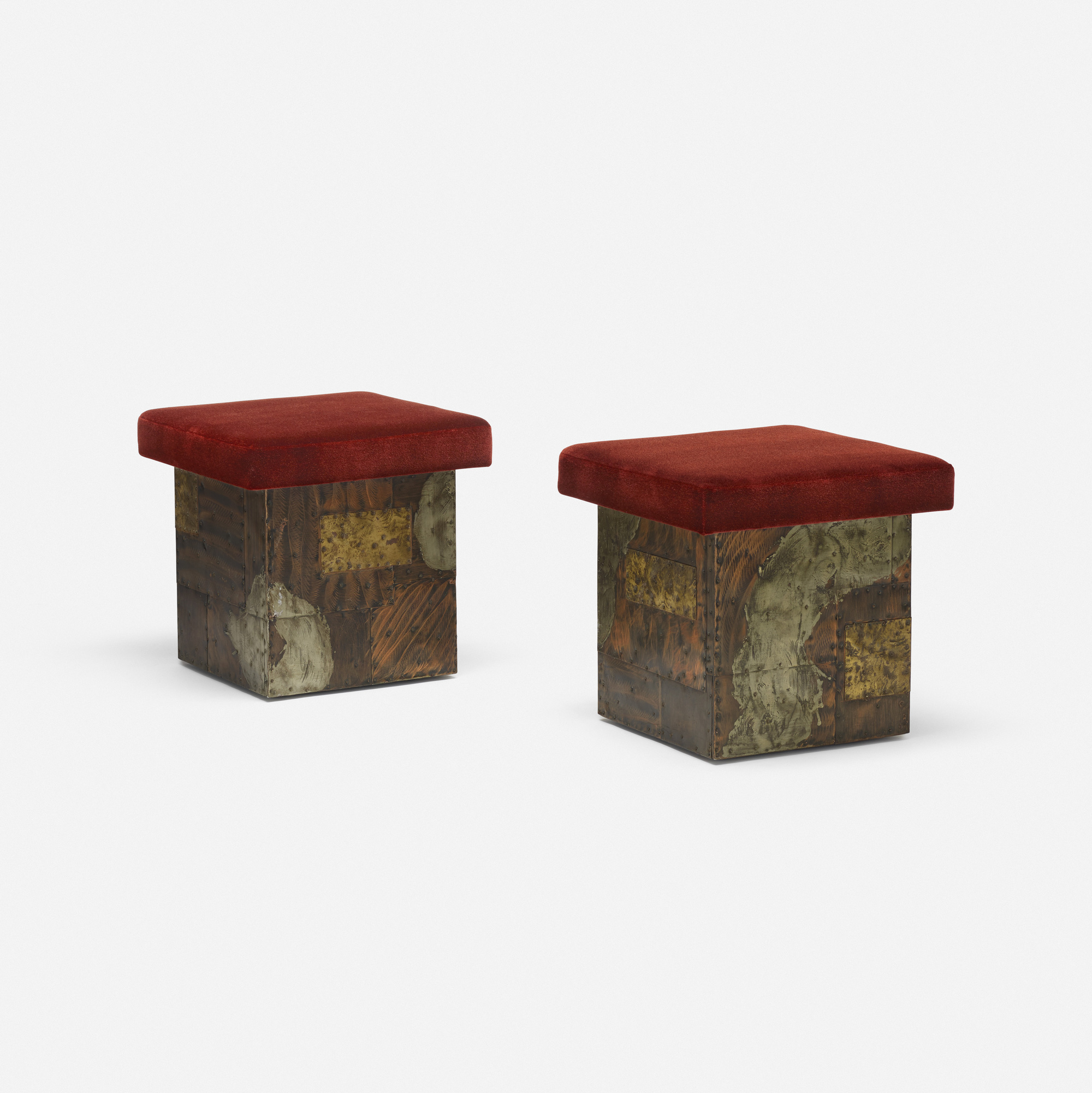179: Paul Evans / stools model PE 35, pair (1 of 3)