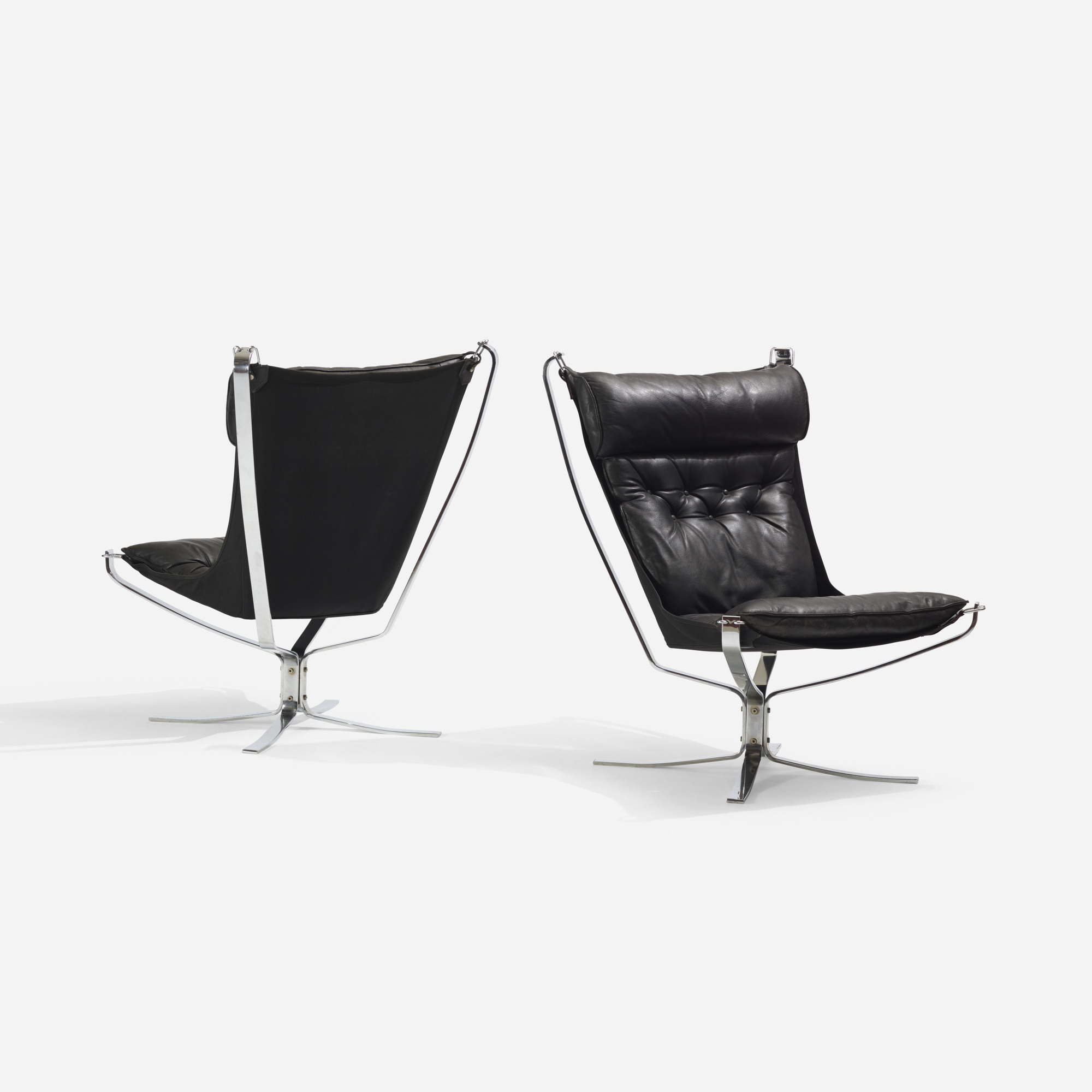 179: Sigurd Resell / Falcon chairs, pair (1 of 3)