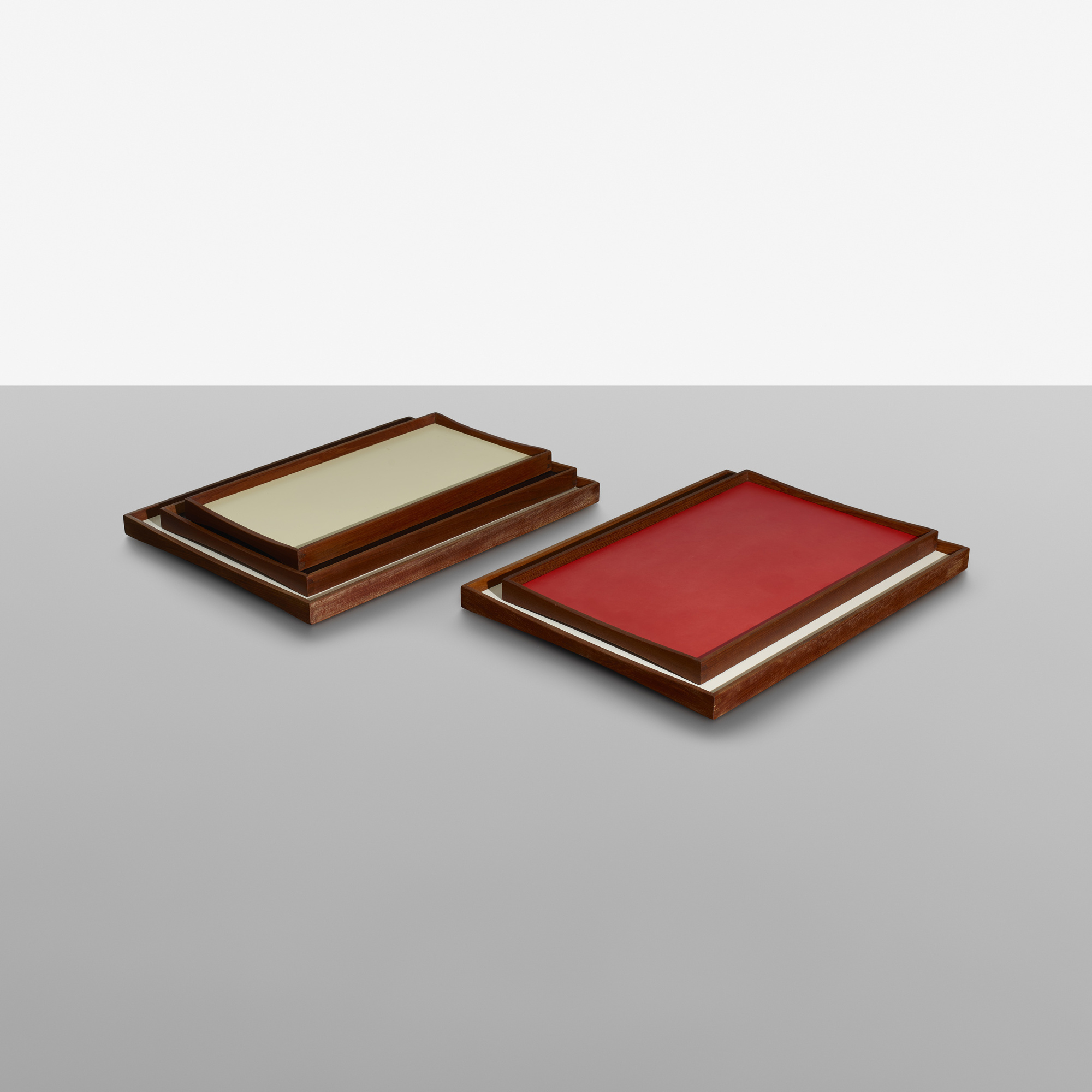 179: Finn Juhl / reversible trays, set of five (1 of 2)