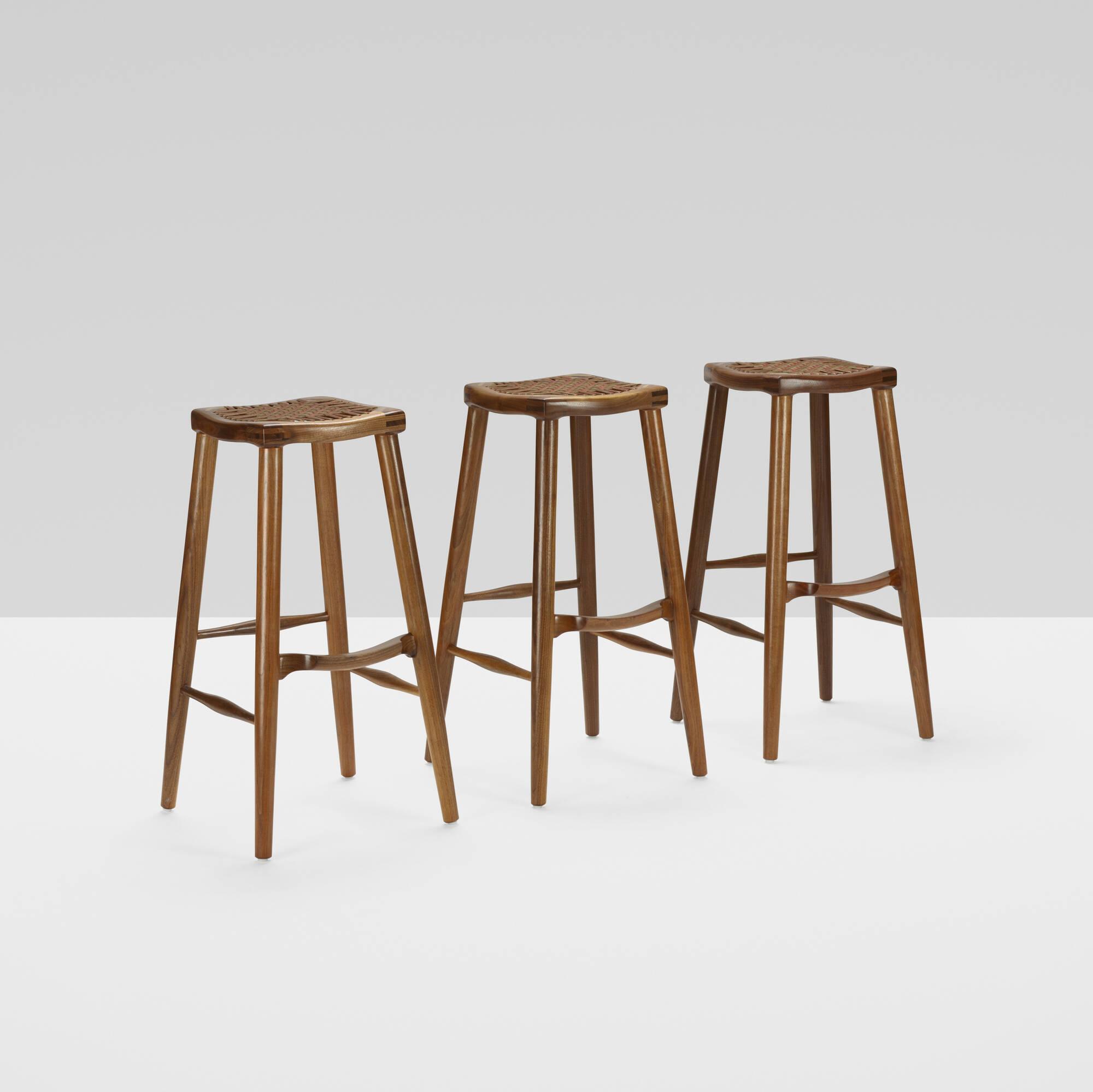 179: Sam Maloof / bar stools, set of three (2 of 4)
