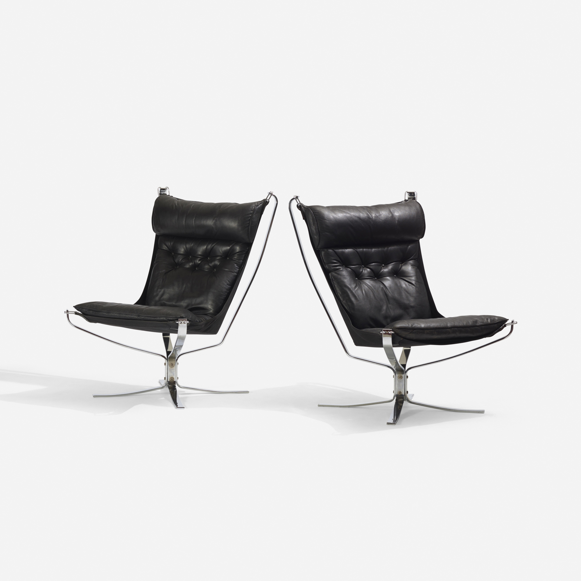 179: Sigurd Resell / Falcon chairs, pair (2 of 3)