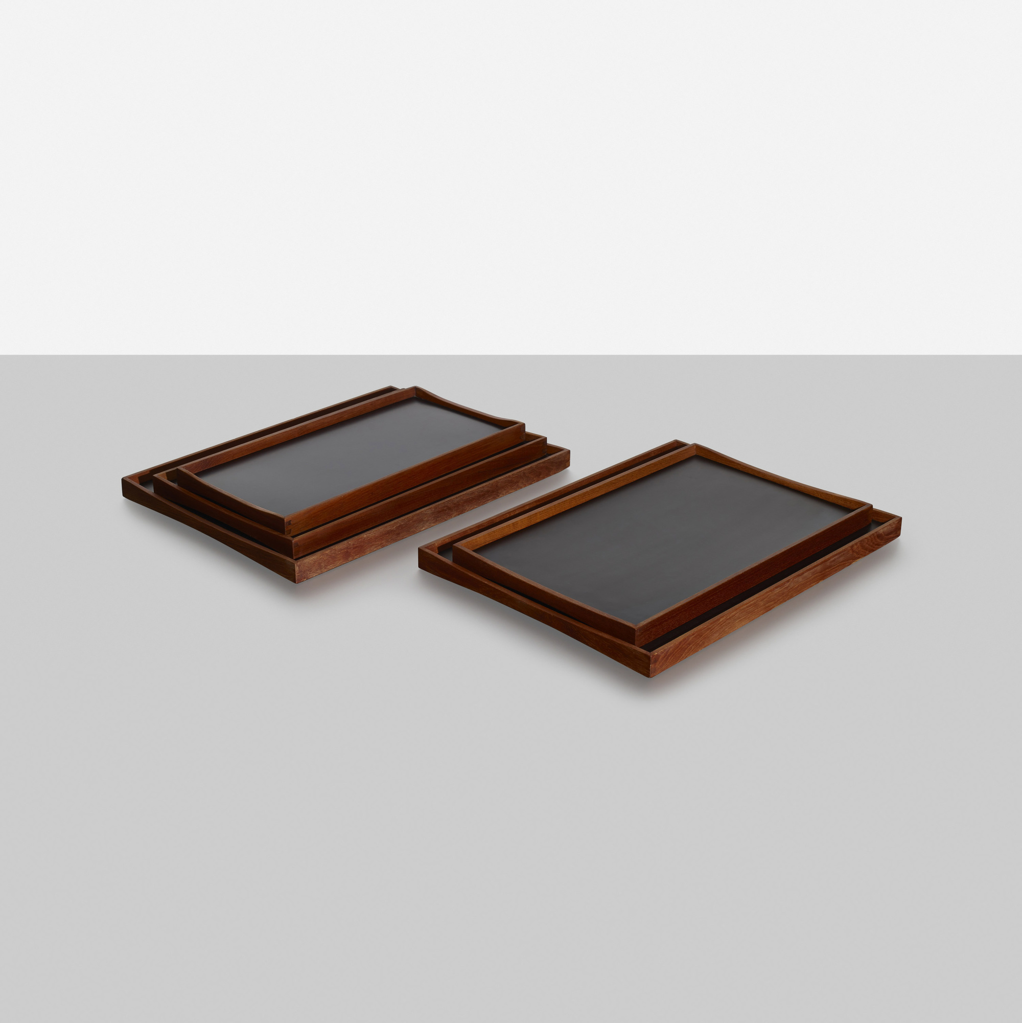 179: Finn Juhl / reversible trays, set of five (2 of 2)