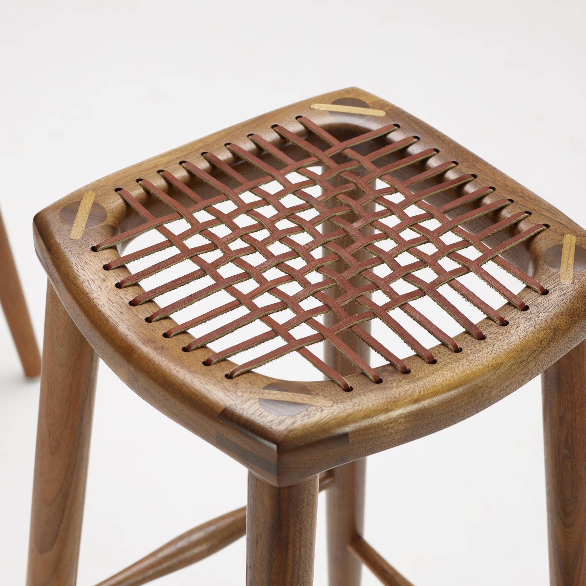 179: Sam Maloof / bar stools, set of three (3 of 4)