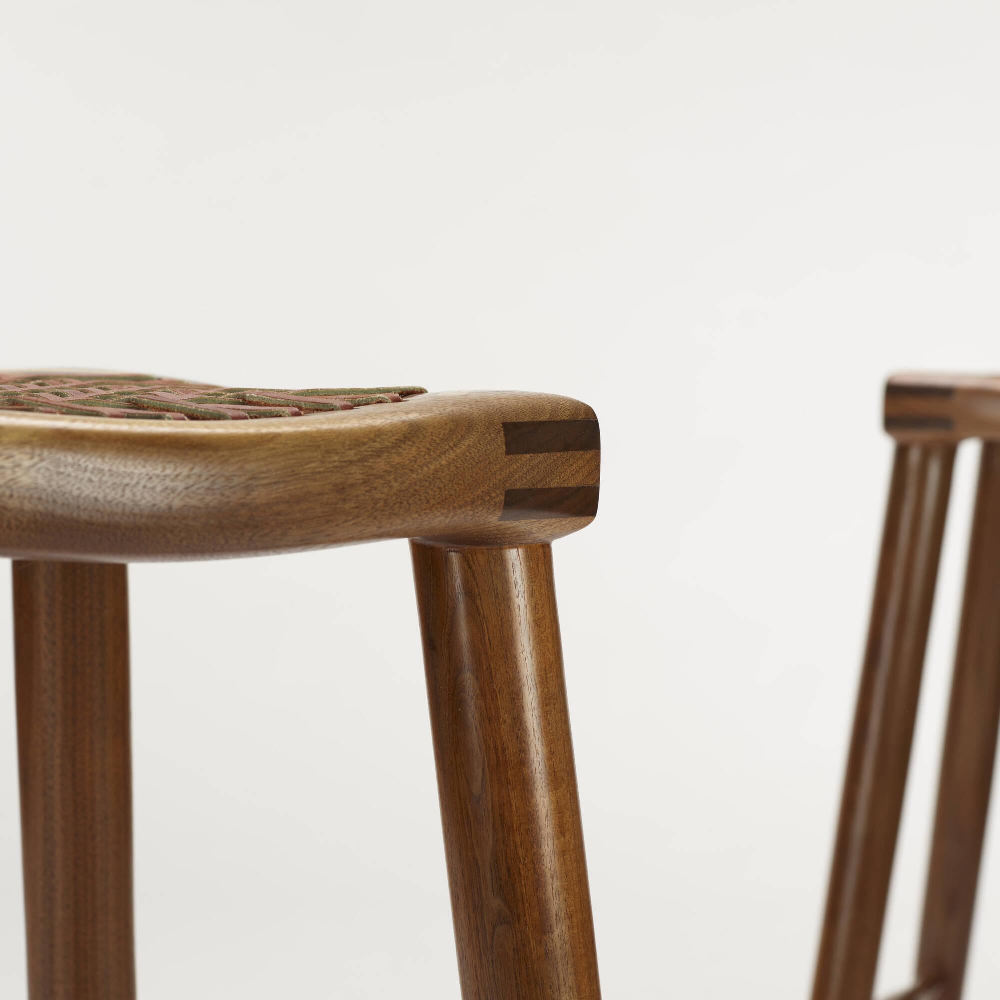 179: Sam Maloof / bar stools, set of three (4 of 4)