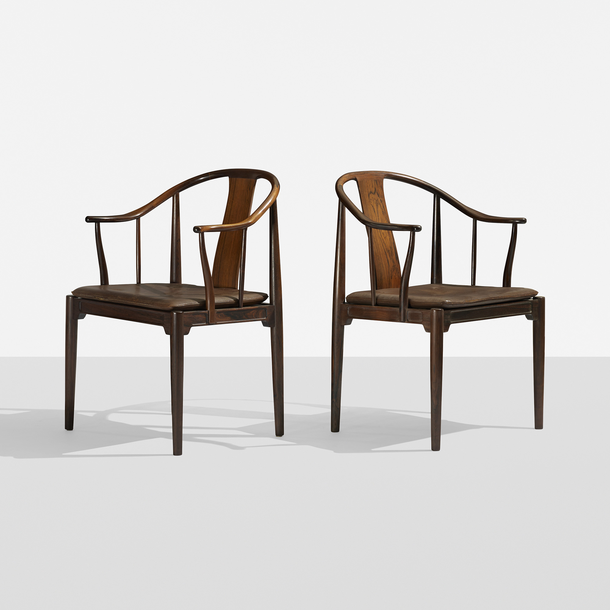 181: Hans J. Wegner / Chinese Chairs, Pair (1 Of 6)
