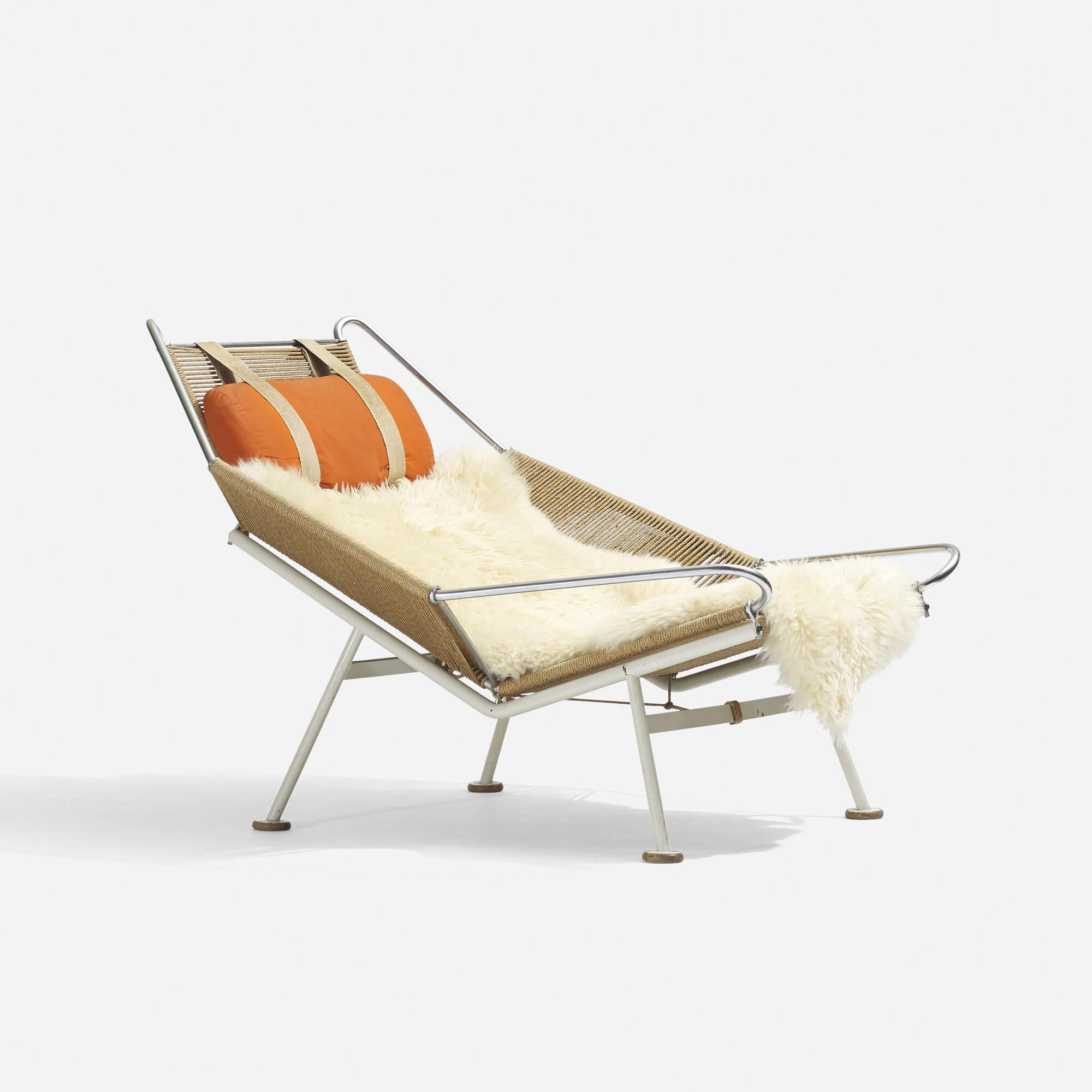 182 Hans J Wegner Flag Halyard lounge chair Scandinavian