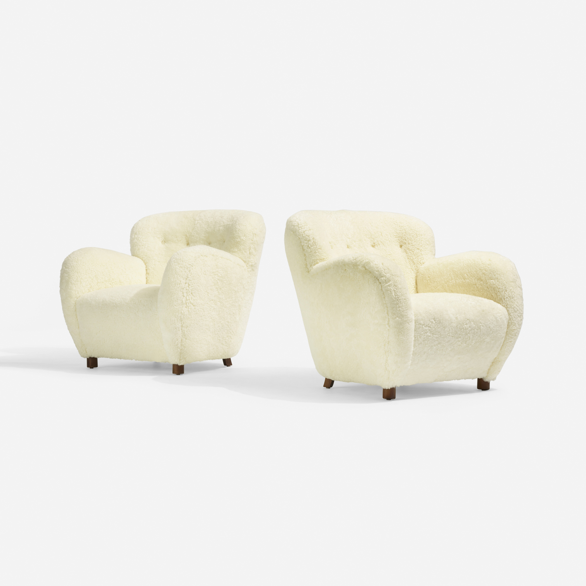 182: Flemming Lassen, attribution / lounge chairs, pair (1 of 3)