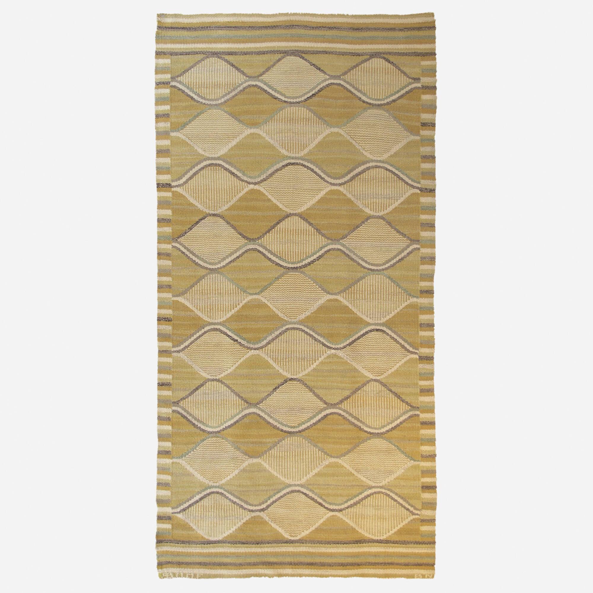 182: Barbro Nilsson / Spättan tapestry weave carpet (1 of 1)