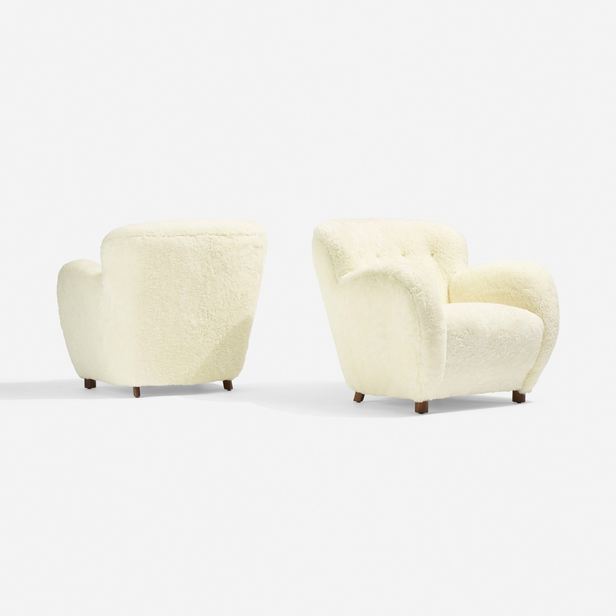 182: Flemming Lassen, attribution / lounge chairs, pair (2 of 3)