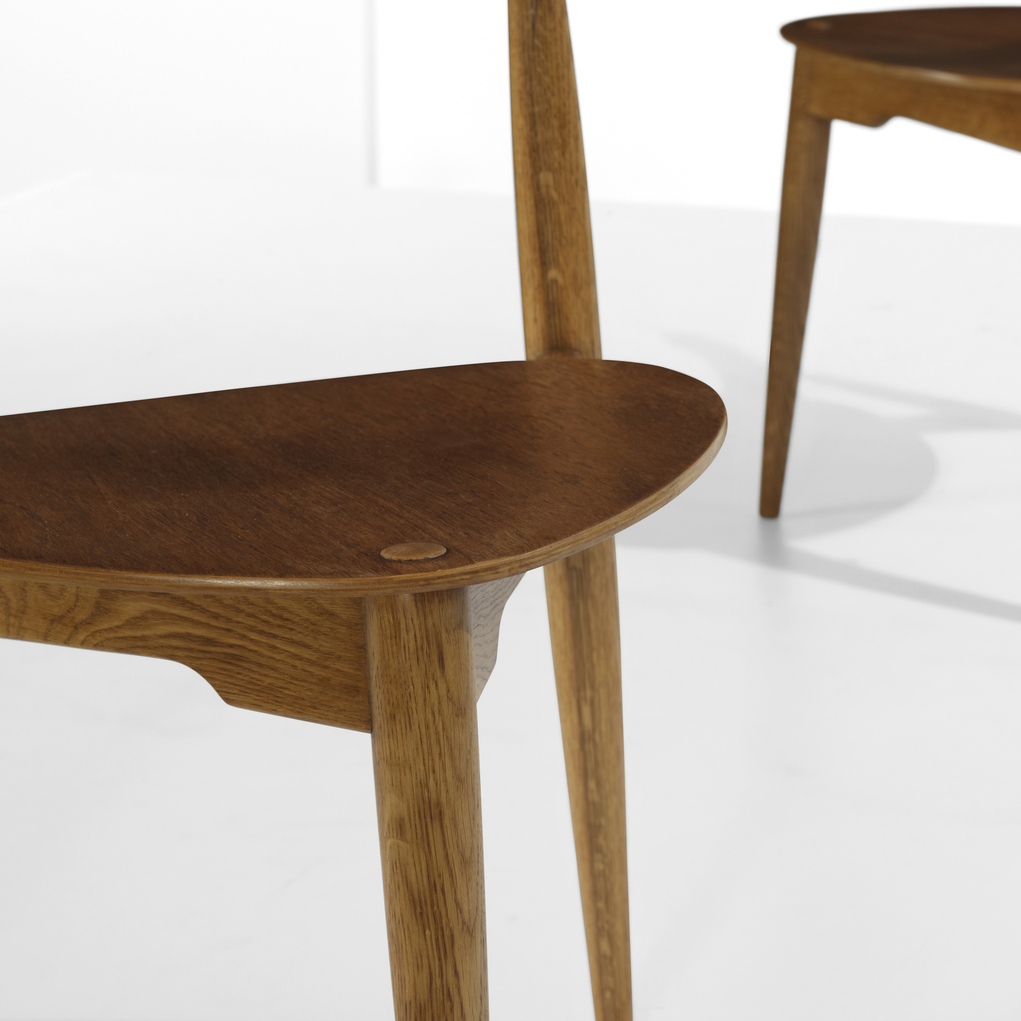... 183: Hans J. Wegner / Heart Dining Chairs, Set Of Six (7