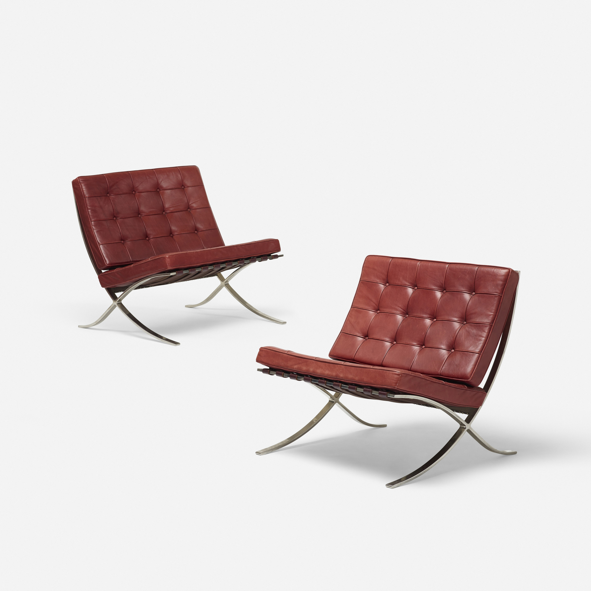 184: Ludwig Mies Van Der Rohe / Barcelona Chairs, Pair (1 Of 4