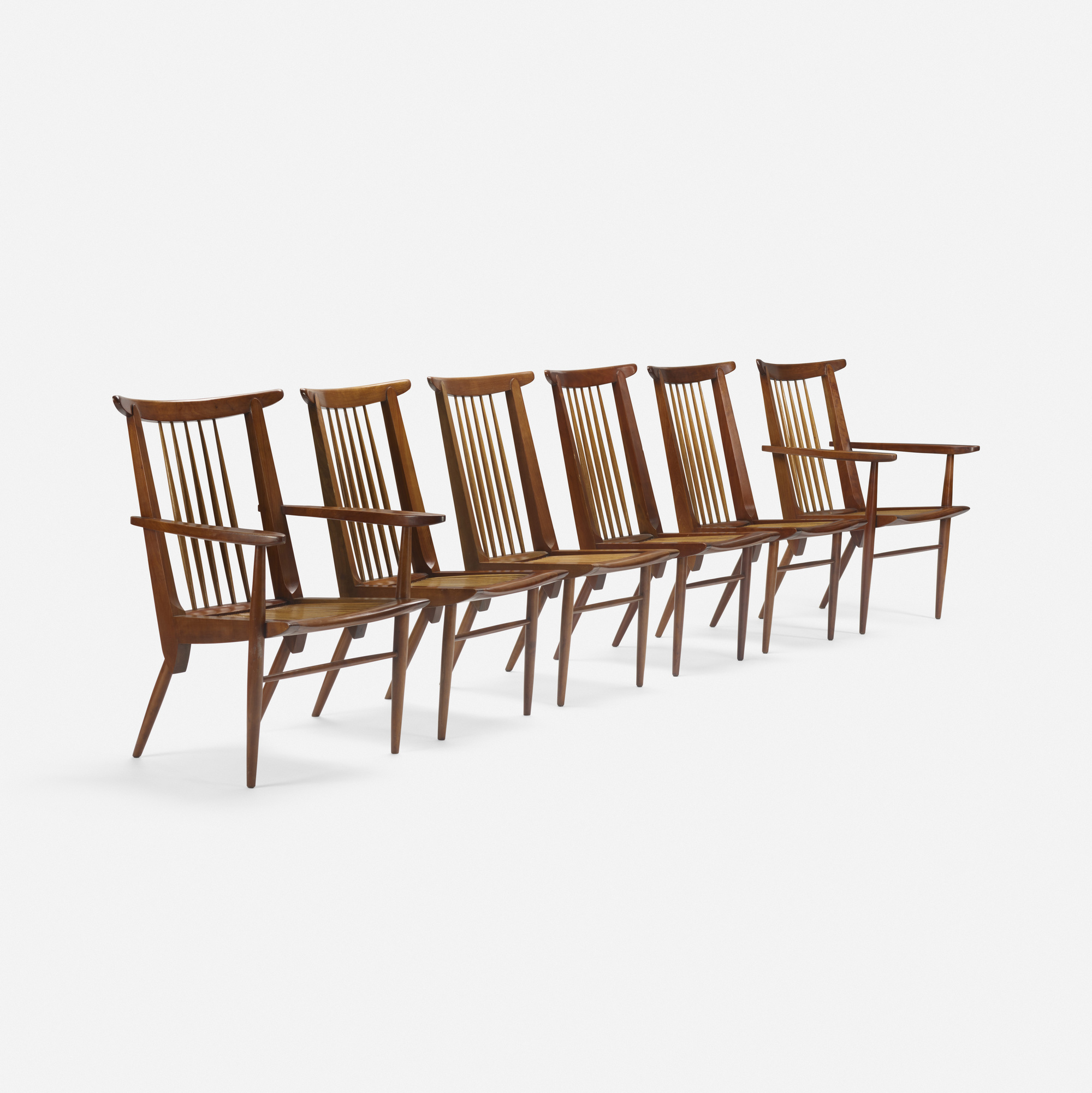 184: George Nakashima / Origins dining chairs model 259-W, set of six (1 of 4)