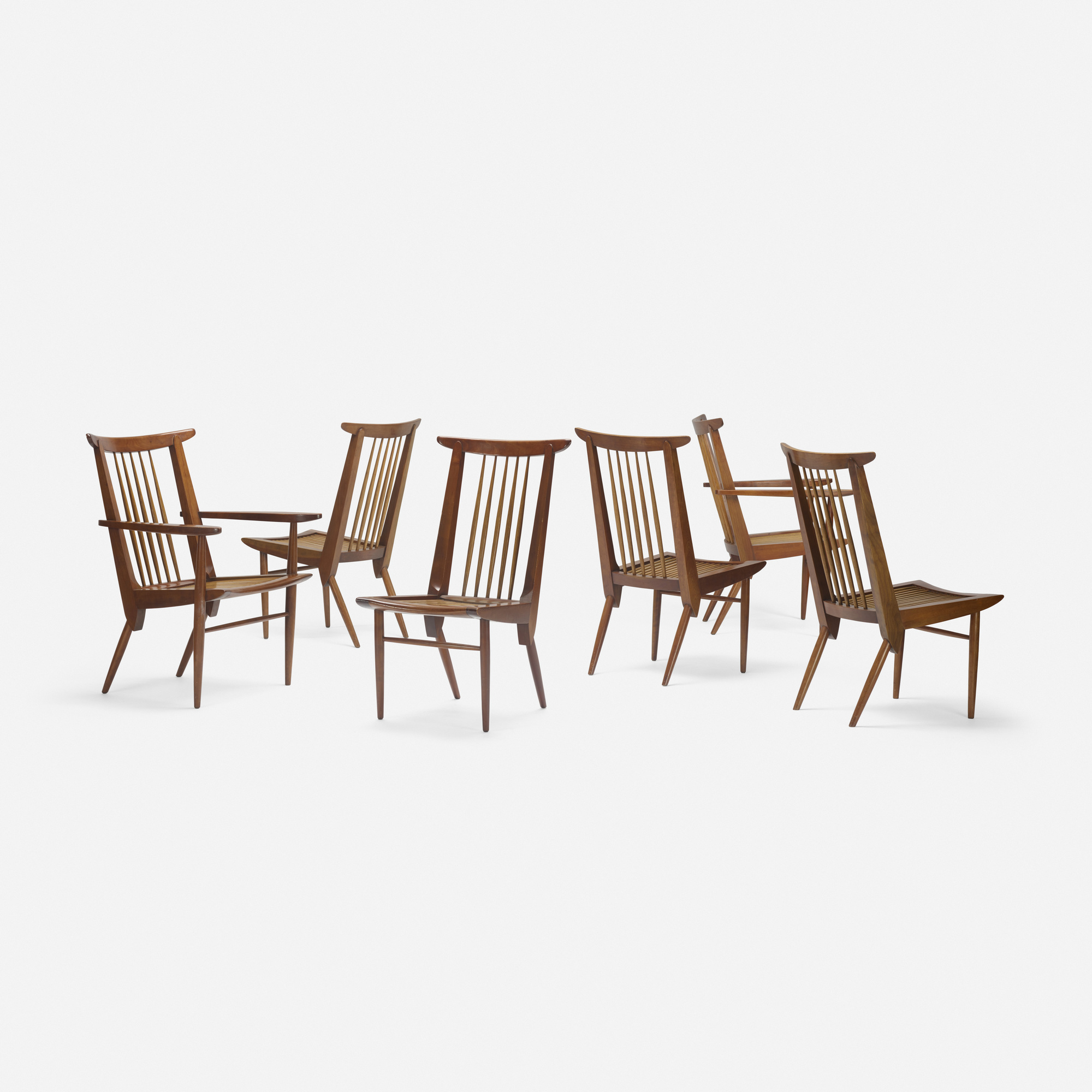 184: George Nakashima / Origins dining chairs model 259-W, set of six (2 of 4)