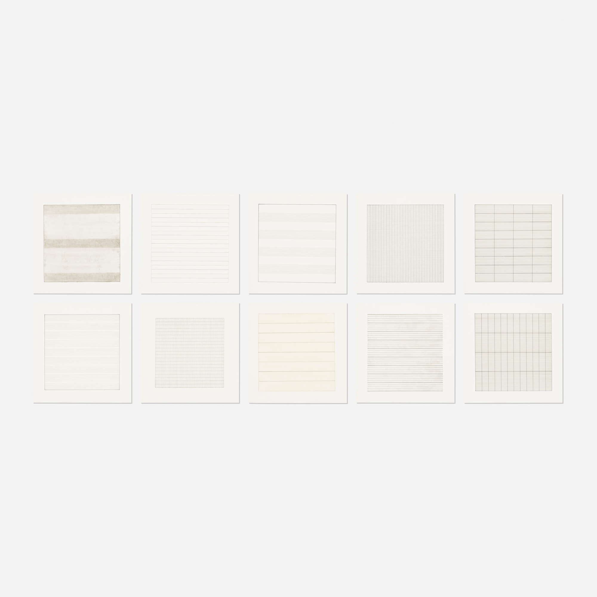 185: Agnes Martin / Paintings and Drawings: Stedelijk Museum Portfolio (ten works) (1 of 1)