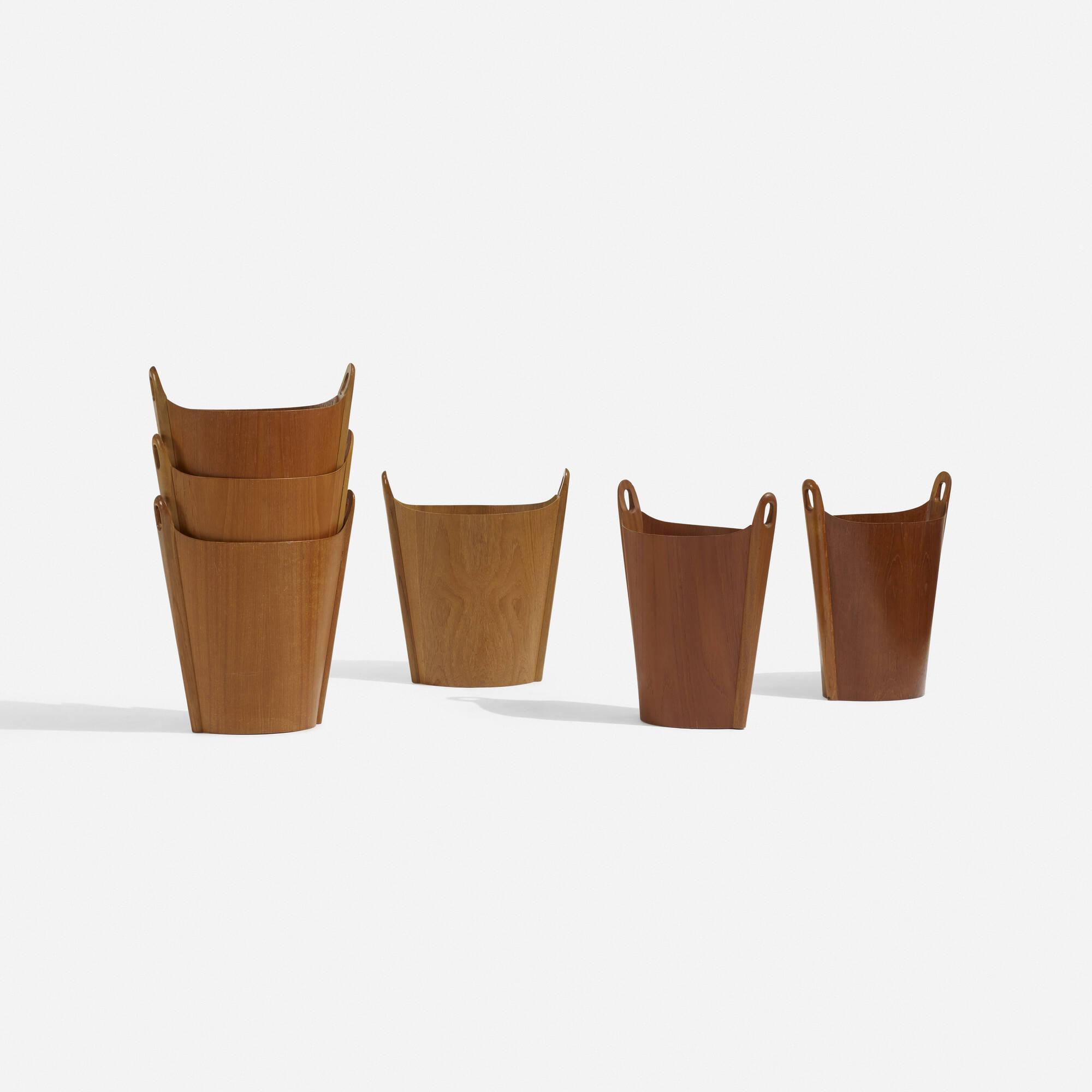 185: P.S. Heggen / wastepaper baskets, set of six (1 of 4)