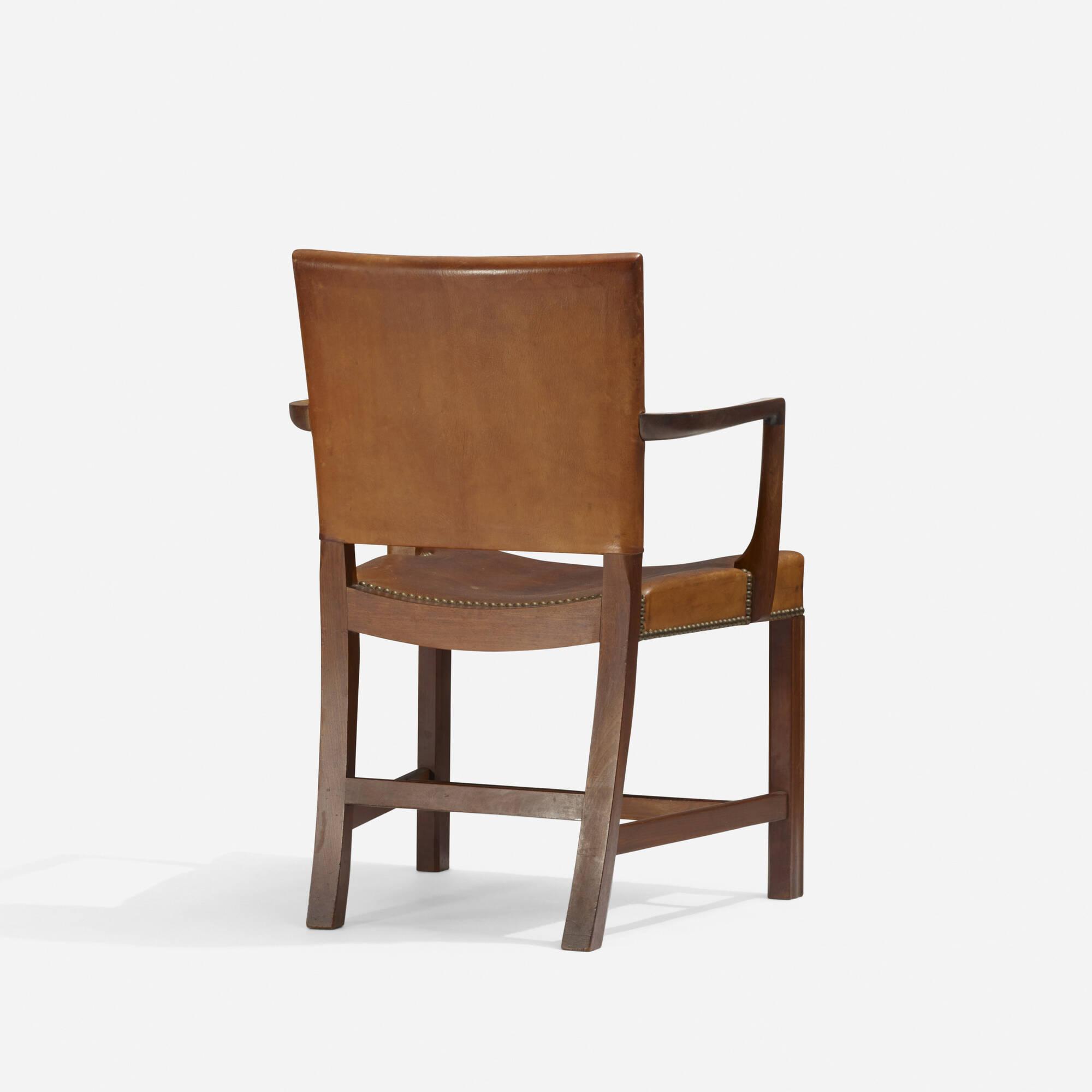 185: Kaare Klint / Red armchair and desk, model 4155 (2 of 2)