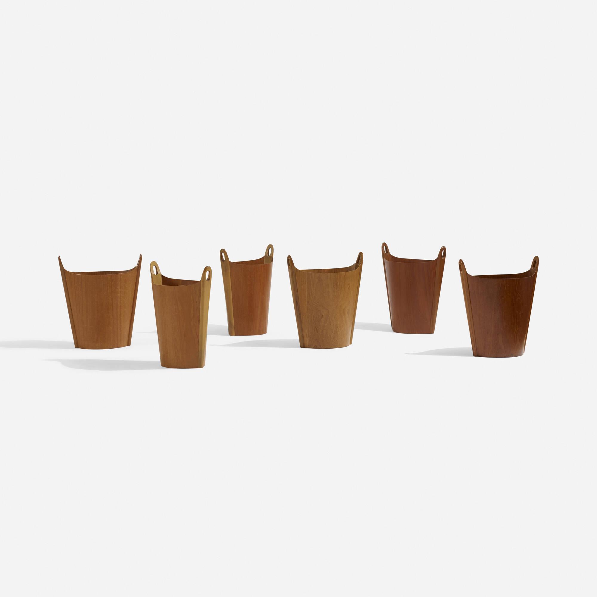 185: P.S. Heggen / wastepaper baskets, set of six (2 of 4)