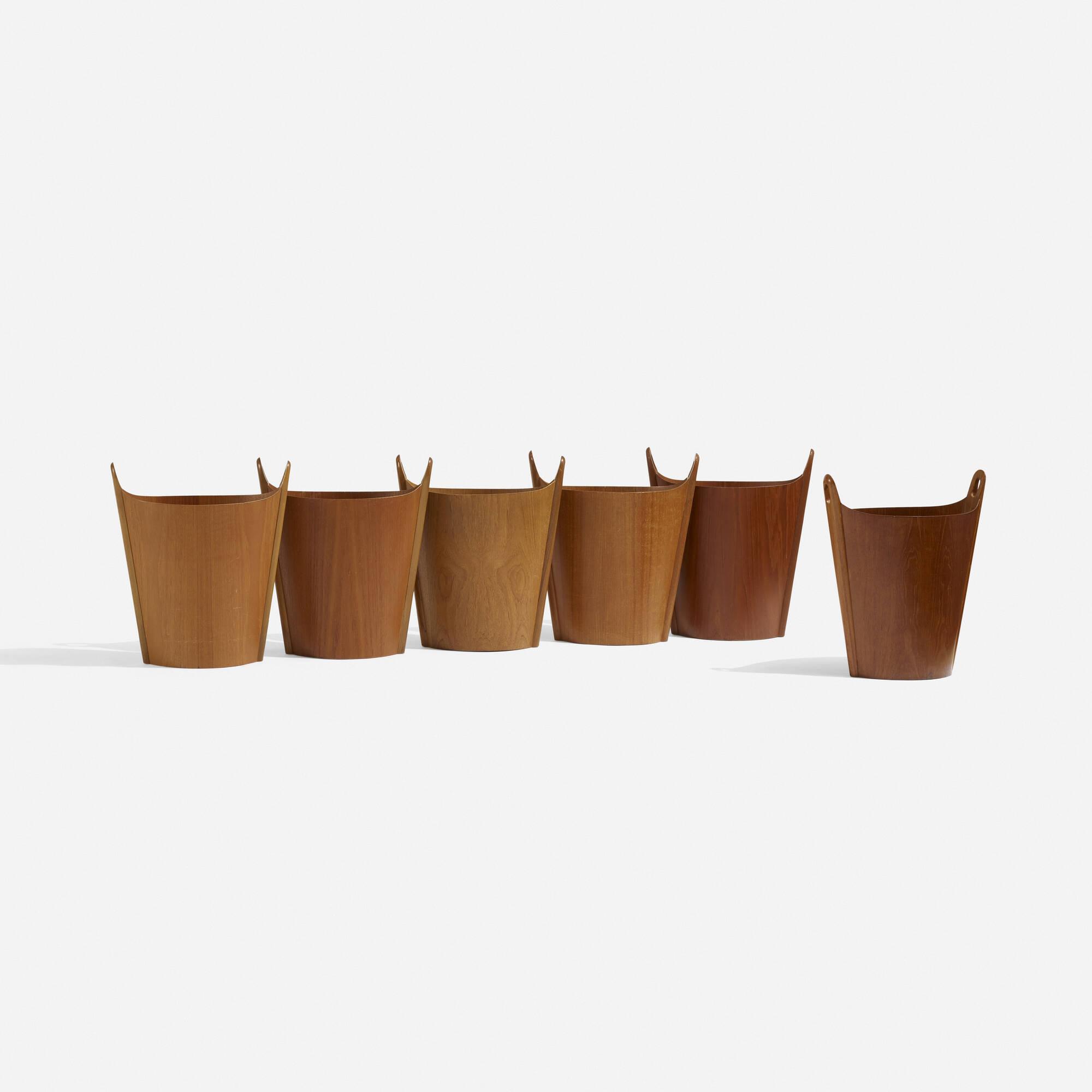 185: P.S. Heggen / wastepaper baskets, set of six (3 of 4)