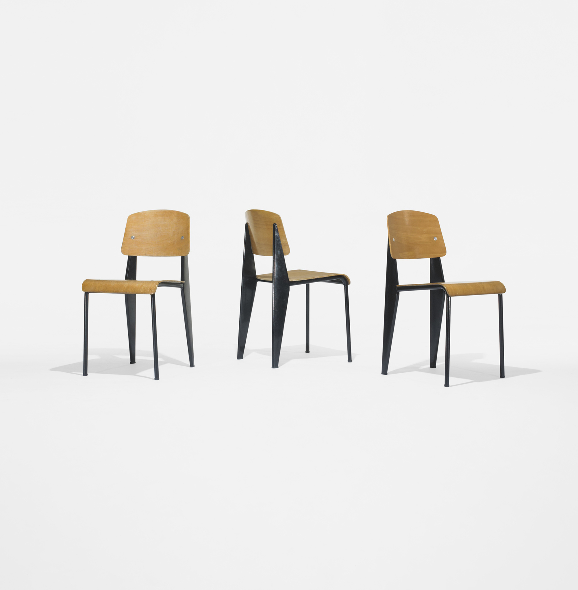 Modern Home Design October 2012: 185: JEAN PROUVÉ, Standard Chairs No. 305, Set Of Six