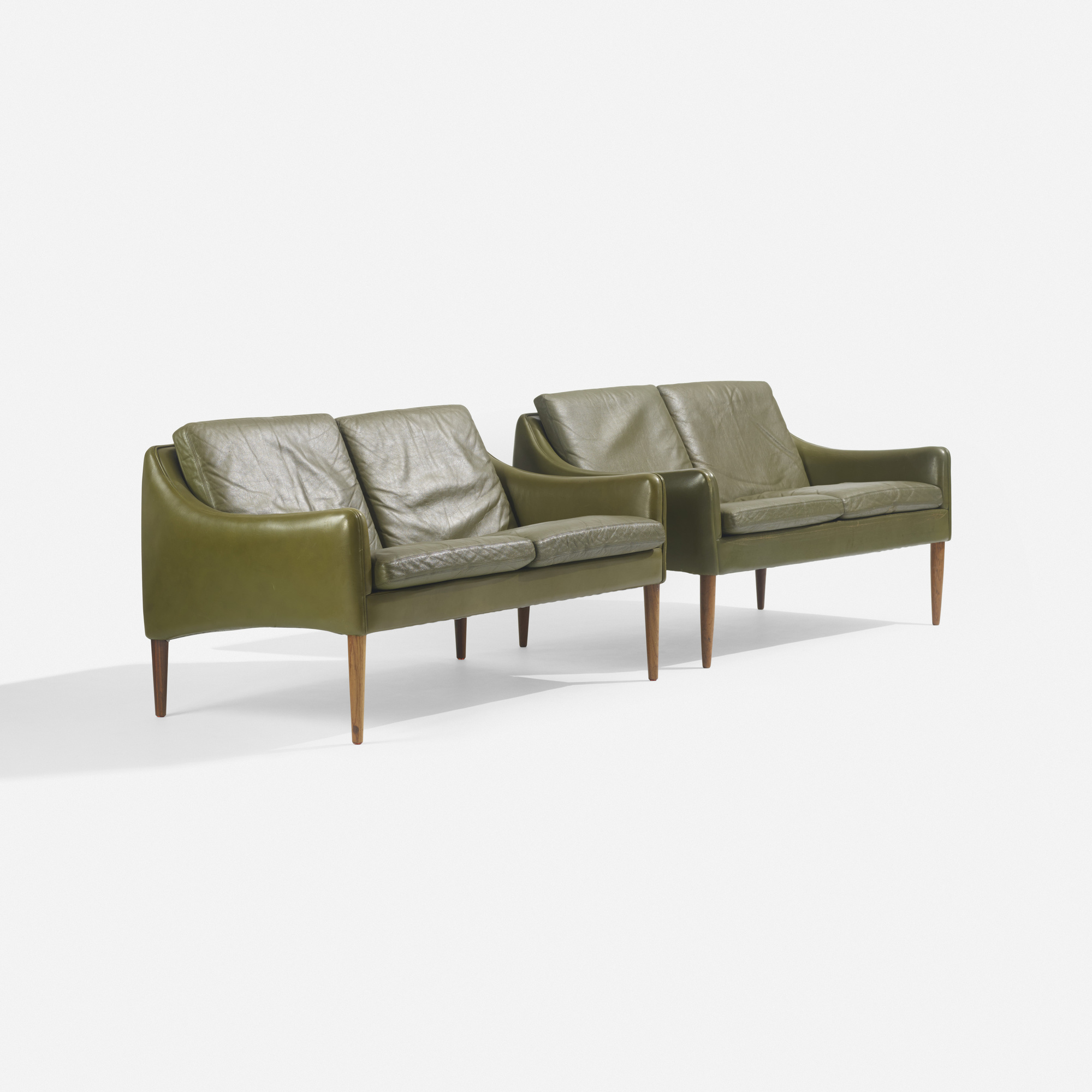 186: Hans Olsen / settees model 800/2, pair (1 of 3)