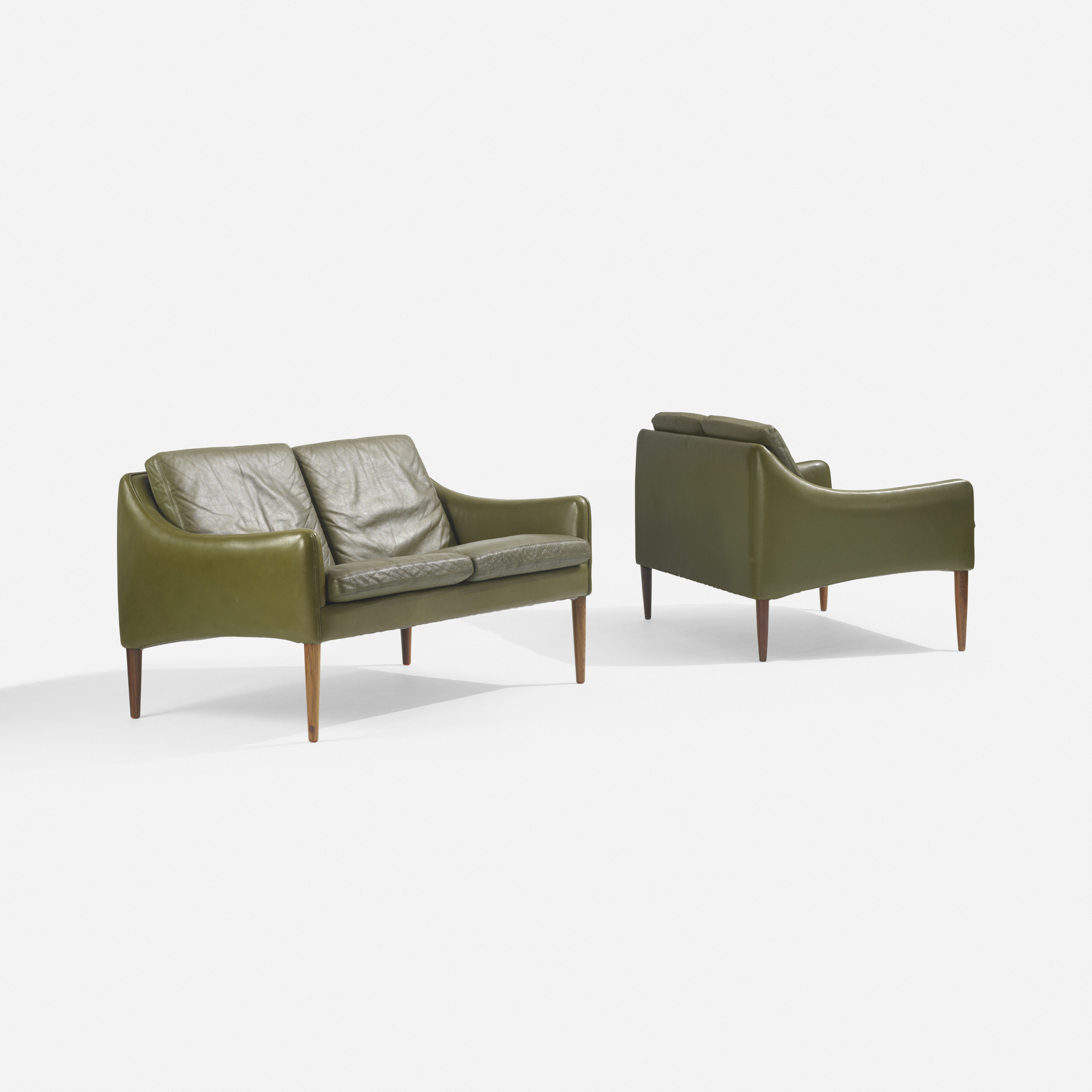 186: Hans Olsen / settees model 800/2, pair (2 of 3)