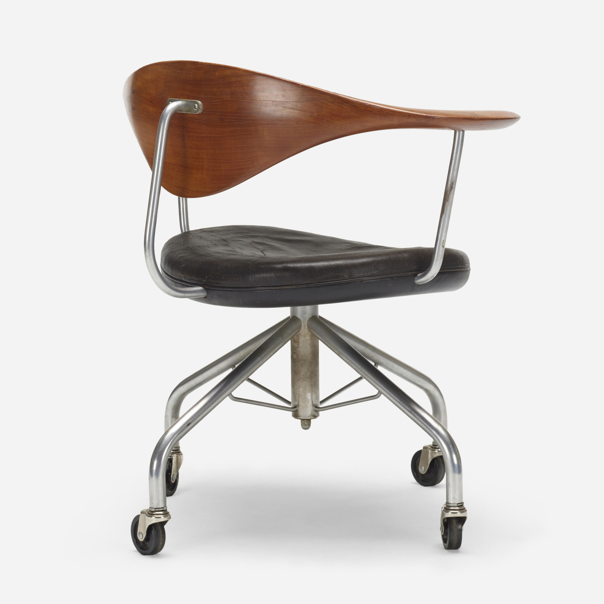 186 Hans J Wegner Swivel Office Chair Important Design 10 December 2019 Auctions Wright Auctions Of Art And Design