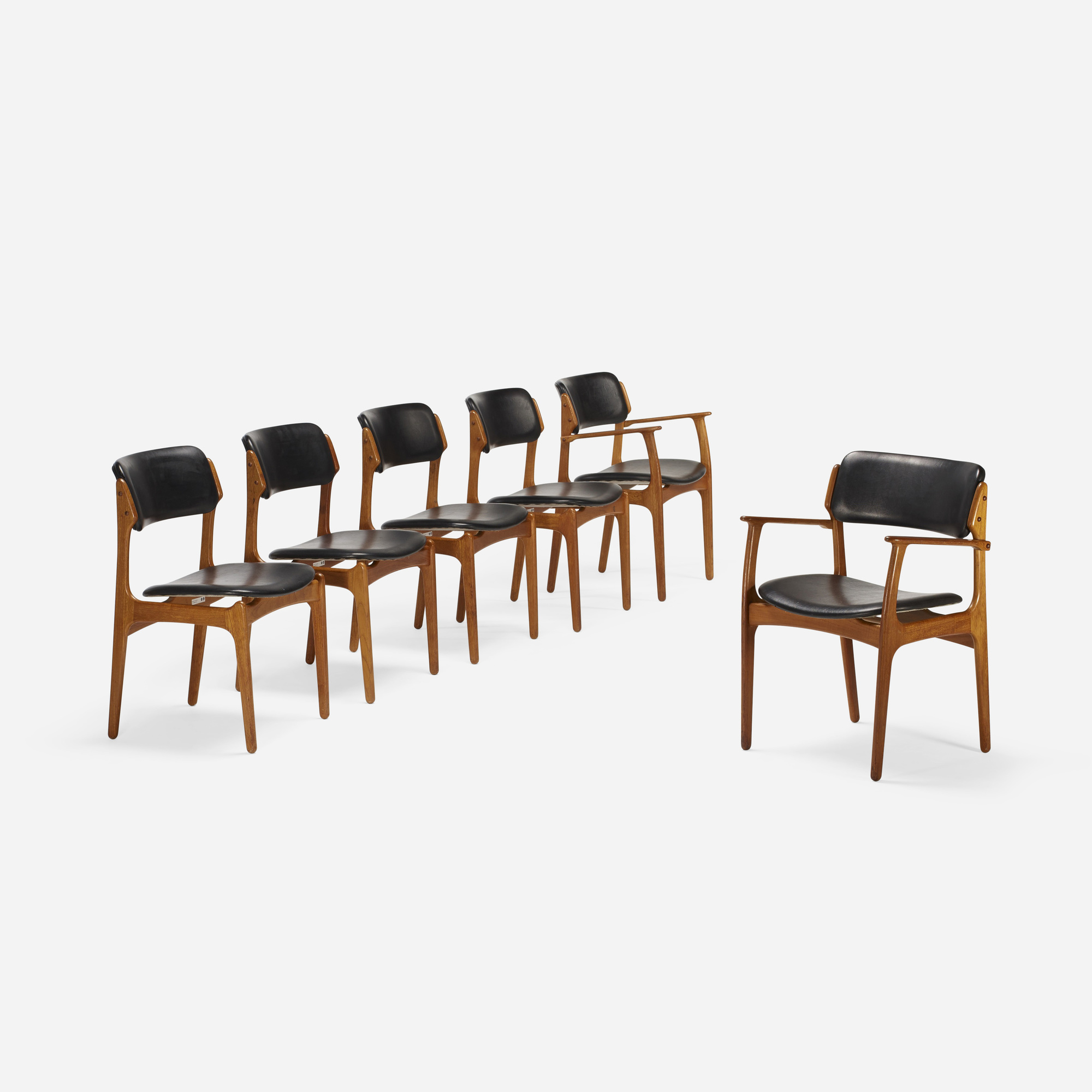 187: Erik Buck / dining chairs model OD 49, set of six (1 of 4)
