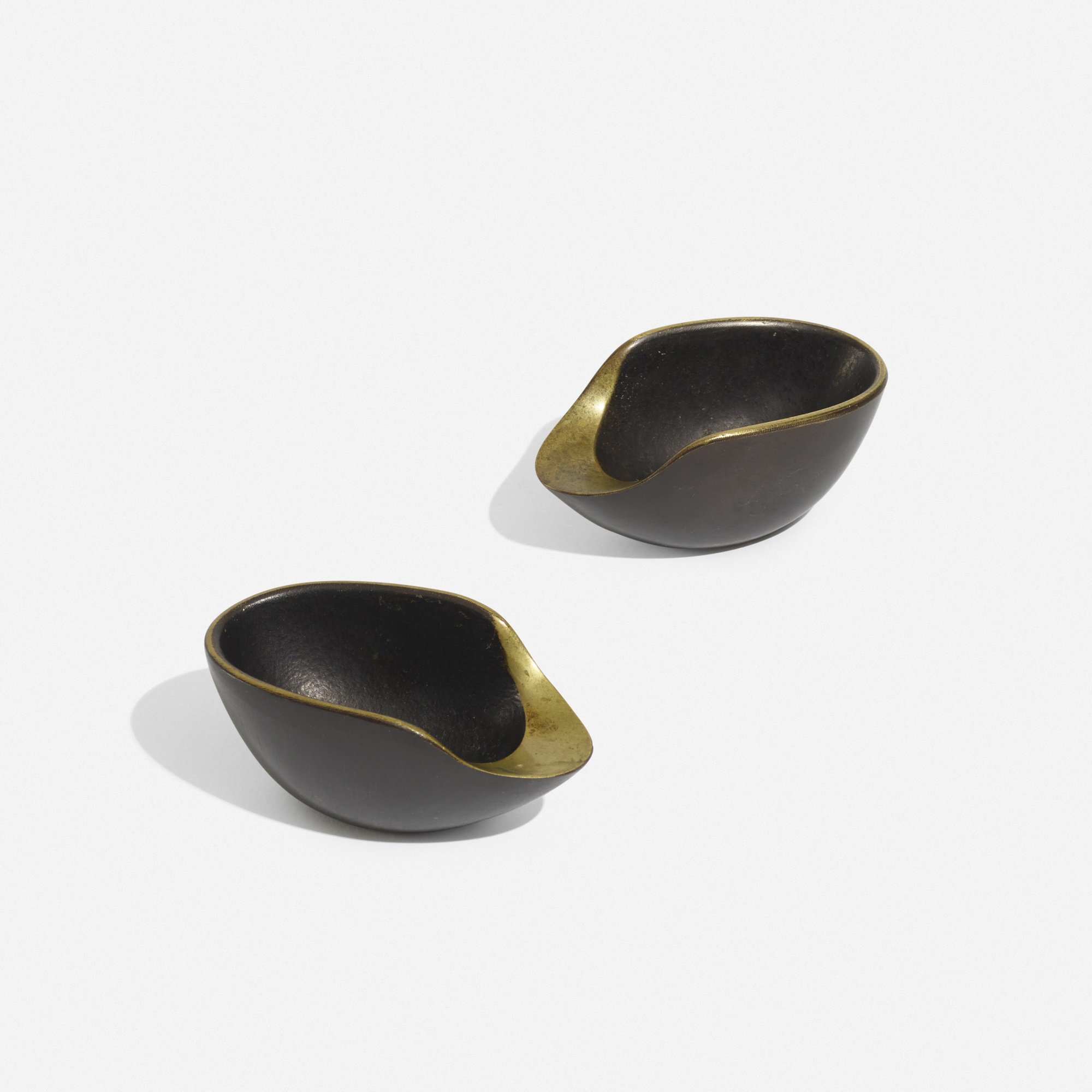 187: Carl Auböck II / ashtrays model 3597, pair (1 of 3)