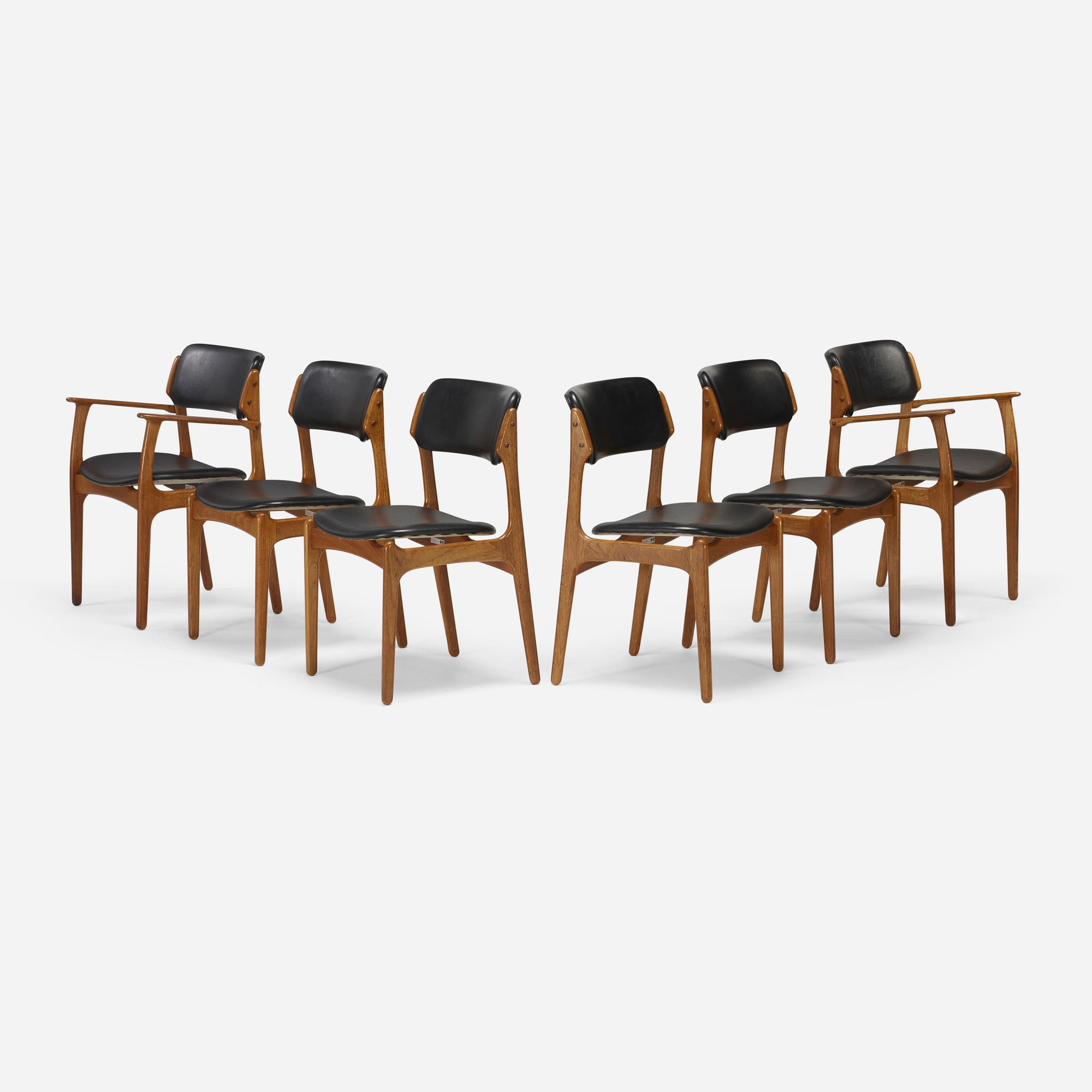 187: Erik Buck / dining chairs model OD 49, set of six (2 of 4)